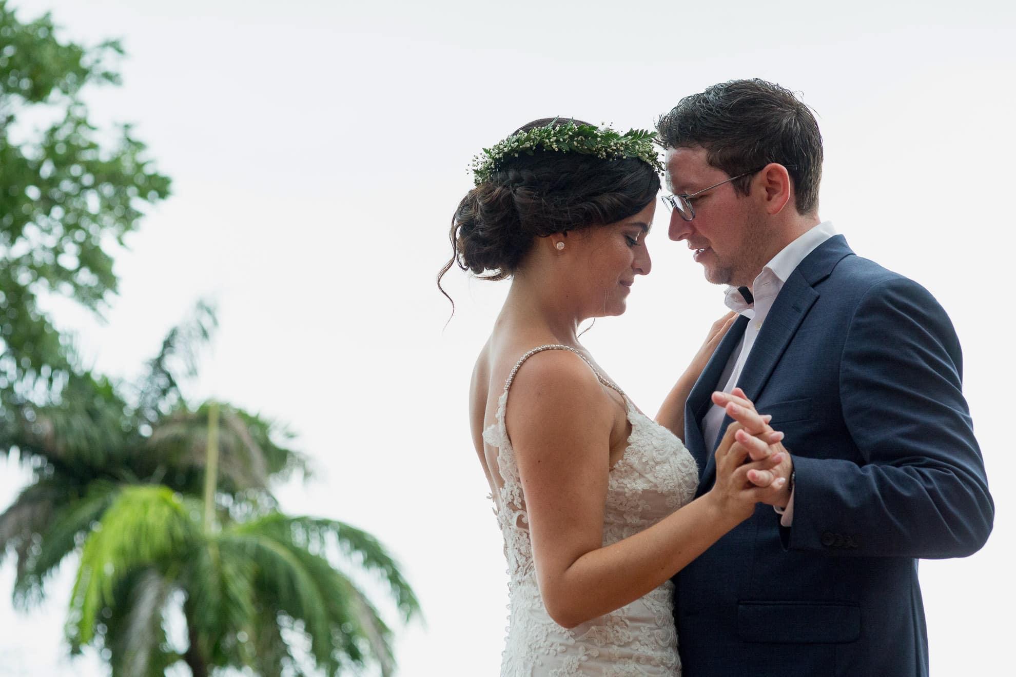 dancing together La Mariposa Destination Wedding