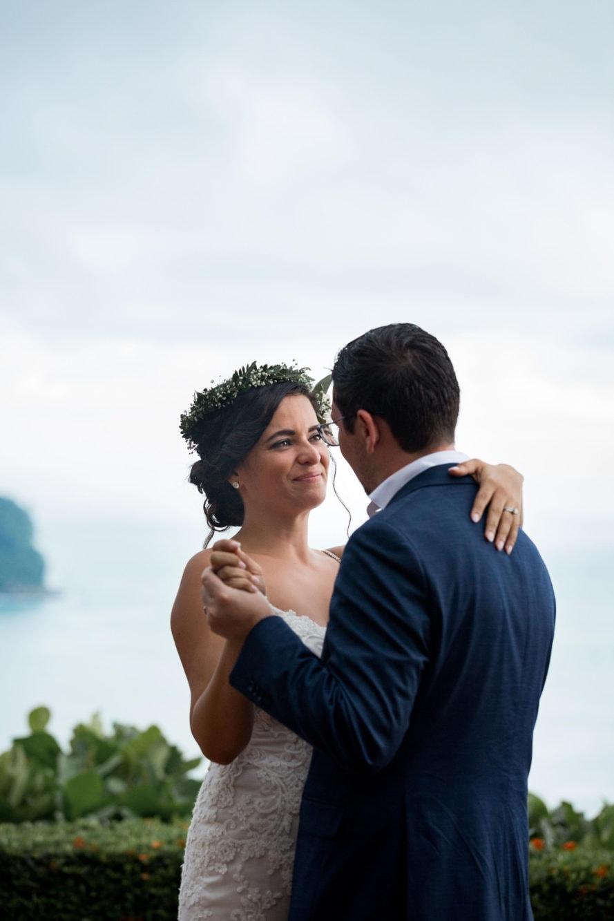bride and groom share special moment La Mariposa Destination Wedding
