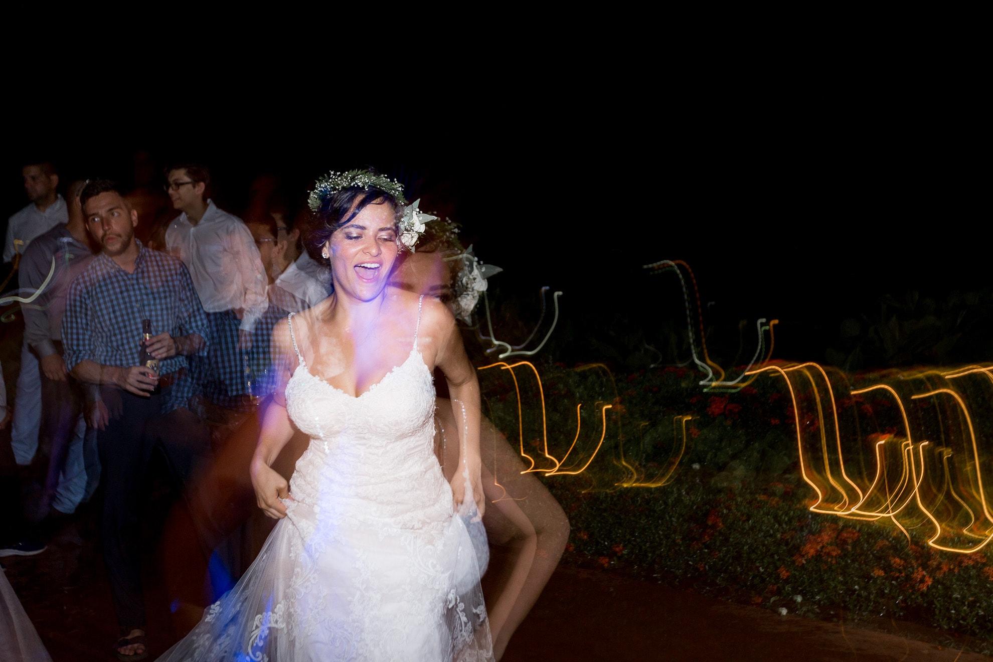 bride dancing La Mariposa Destination Wedding
