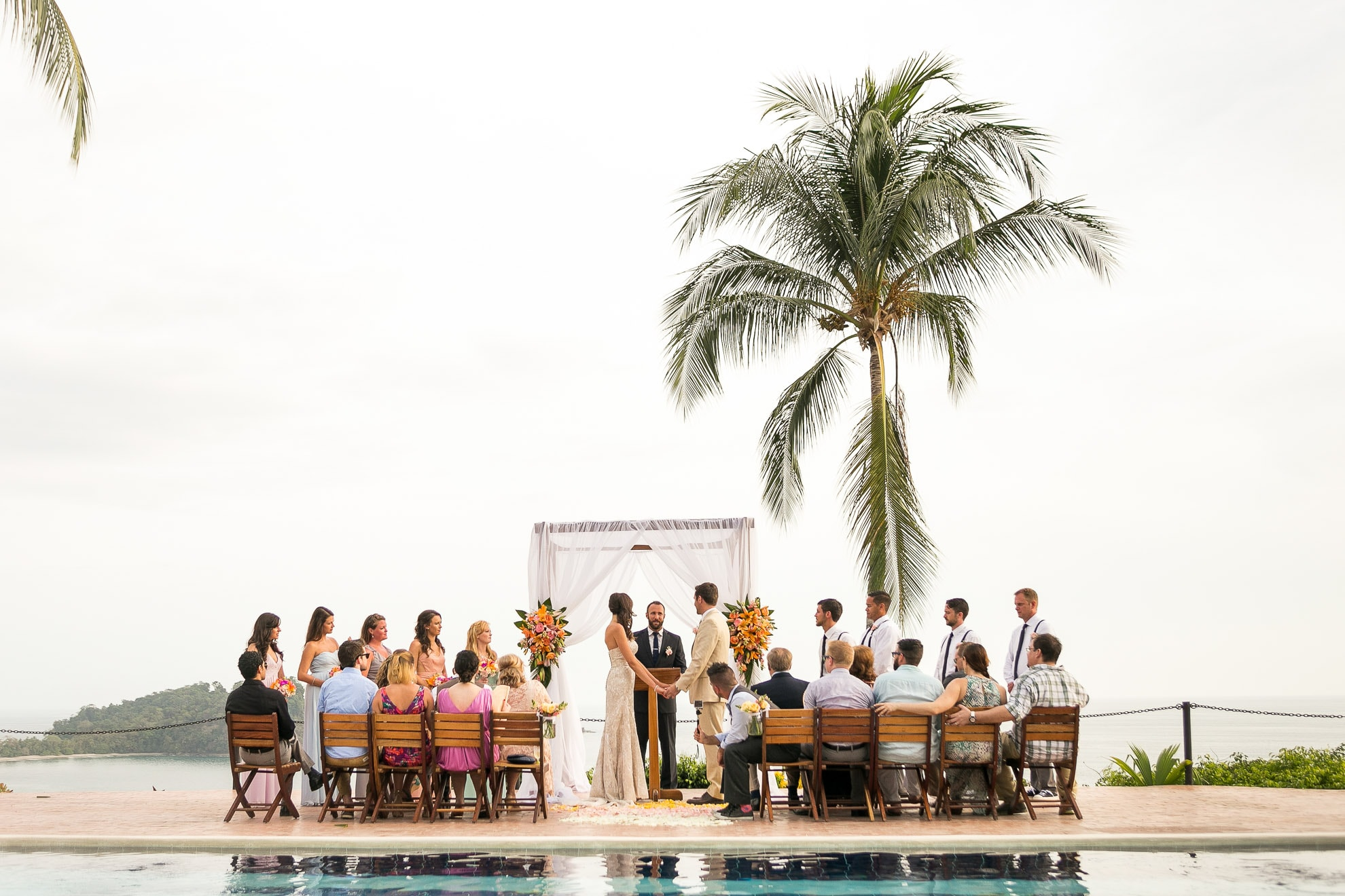 Costa Verde Poolside Wedding