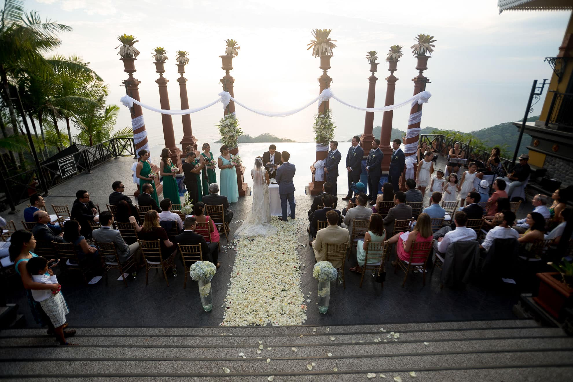 Wedding ceremony at Zephyr Palace.