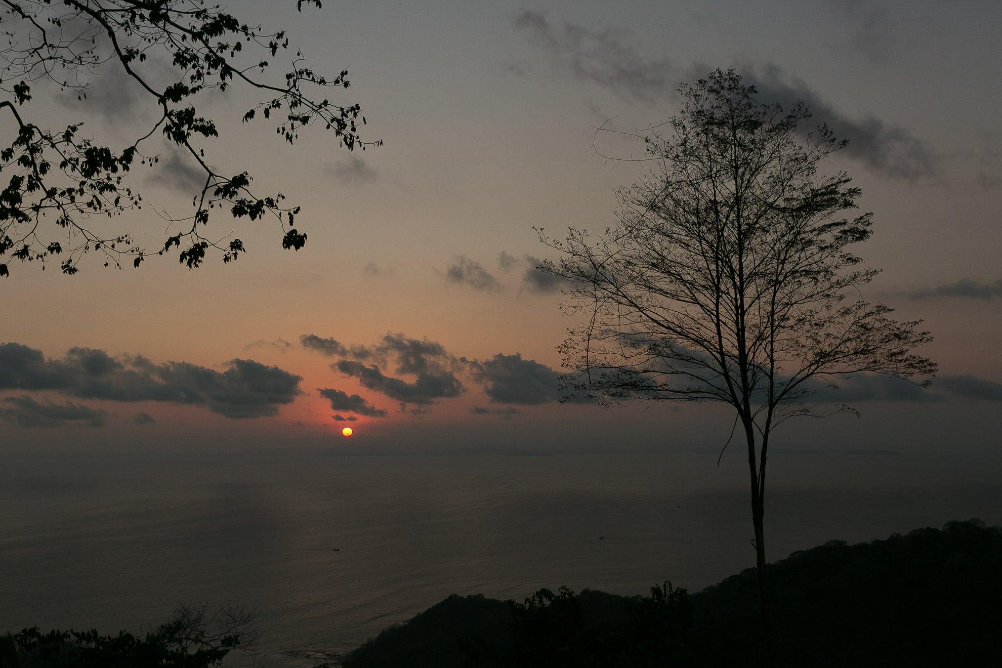 Sunset from el rancho at Villa Caletas Costa Rica