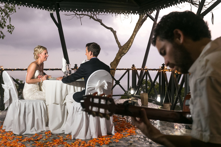 Intimate dinner at Villa Caletas Costa Rica