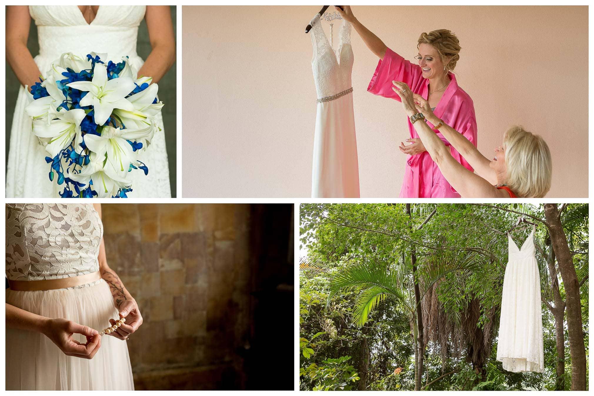 Brides getting ready in Gaia