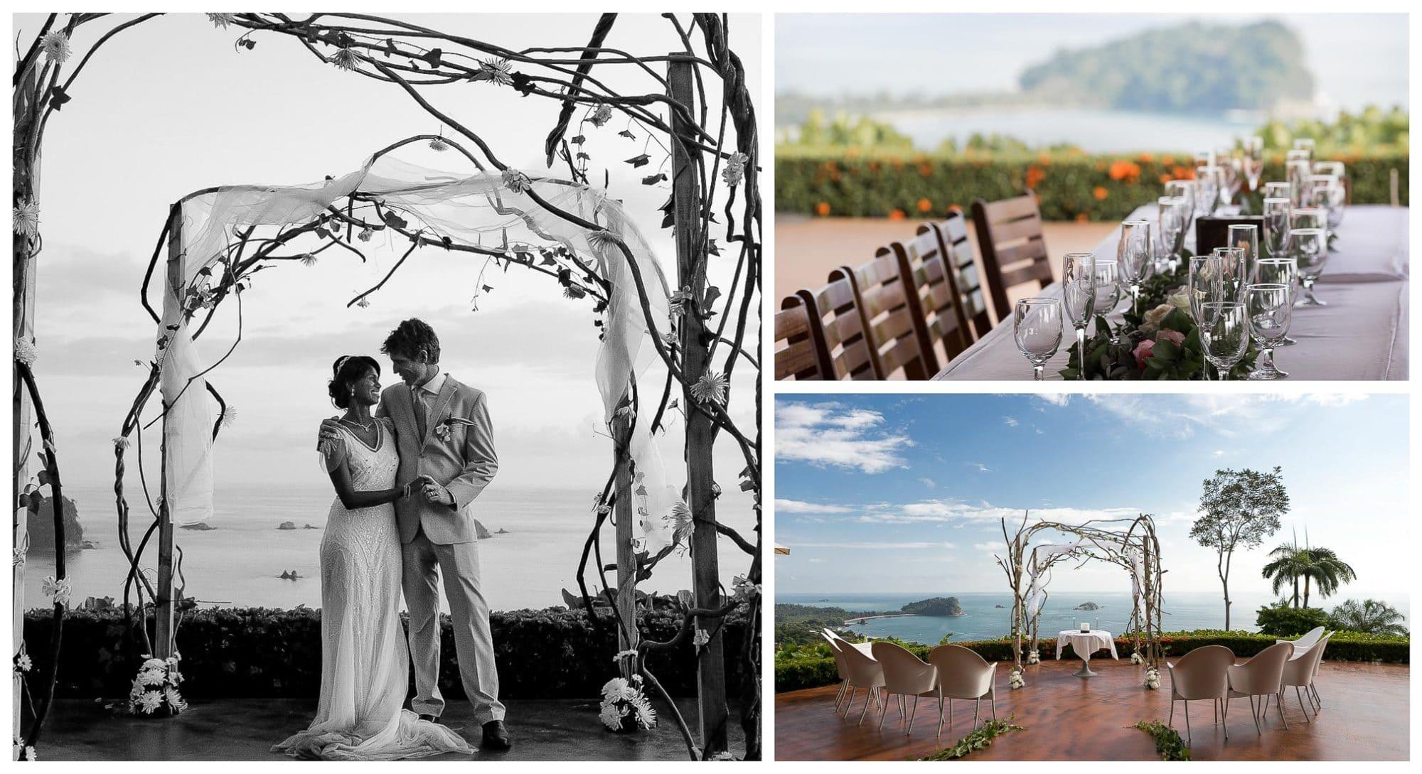Wedding Ceremony at La Mariposa Hotel in Manuel Antonio