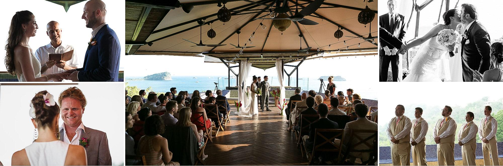 wedding ceremony on deck at punto de vista