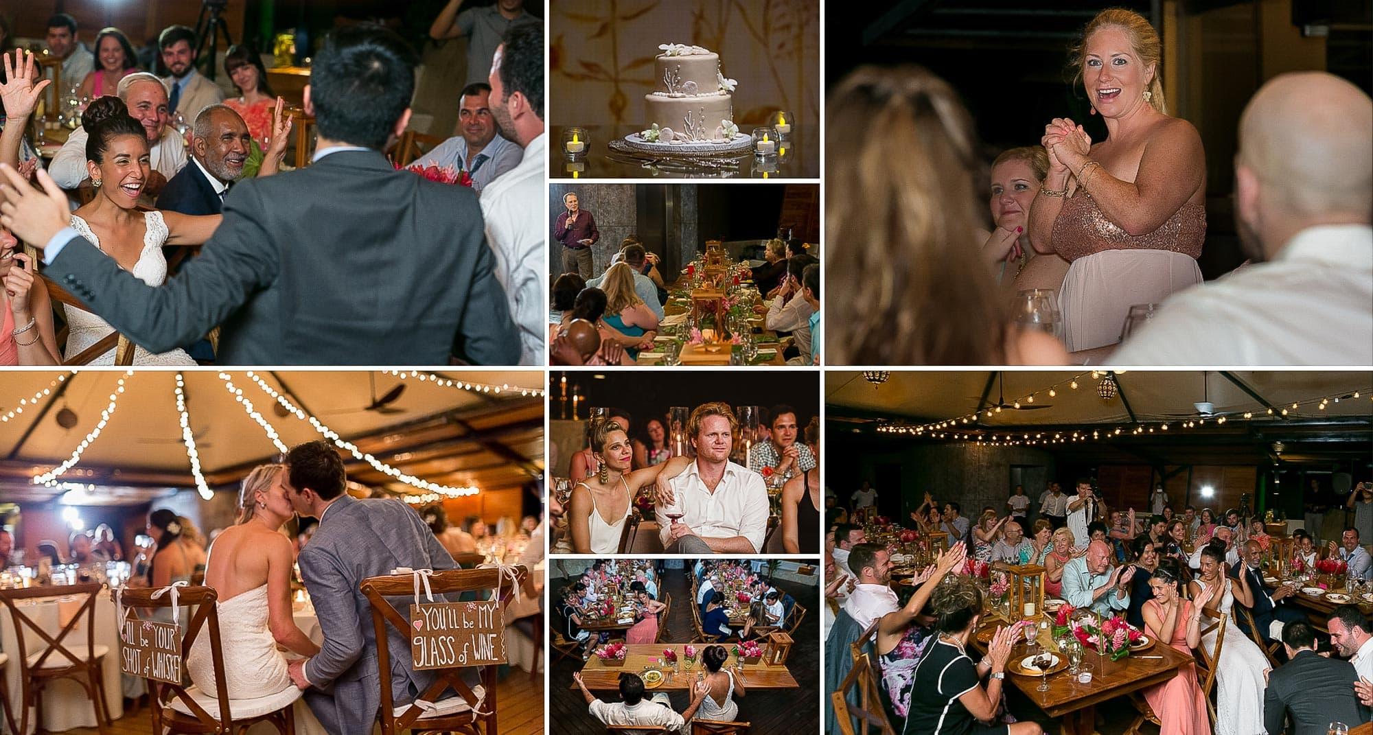 weddings in Costa Rica: wedding reception punto de vista