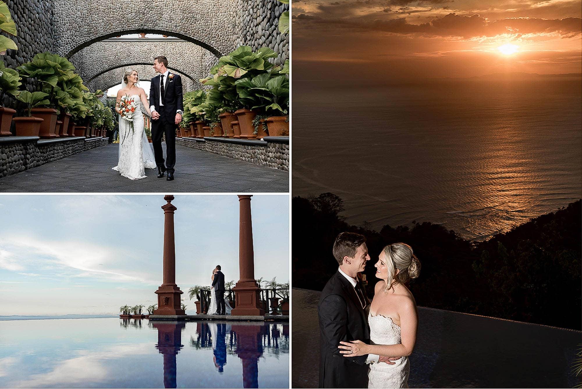 wedding photos zephyr palace at Villa Caletas Costa Rica