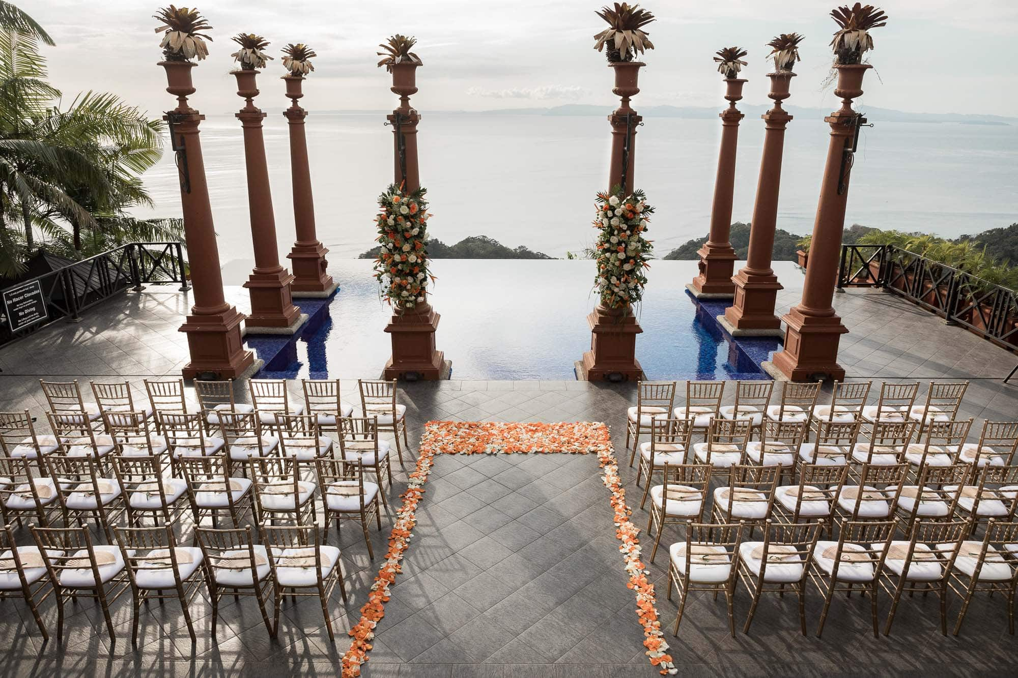 ceremony set up at zephyr palace