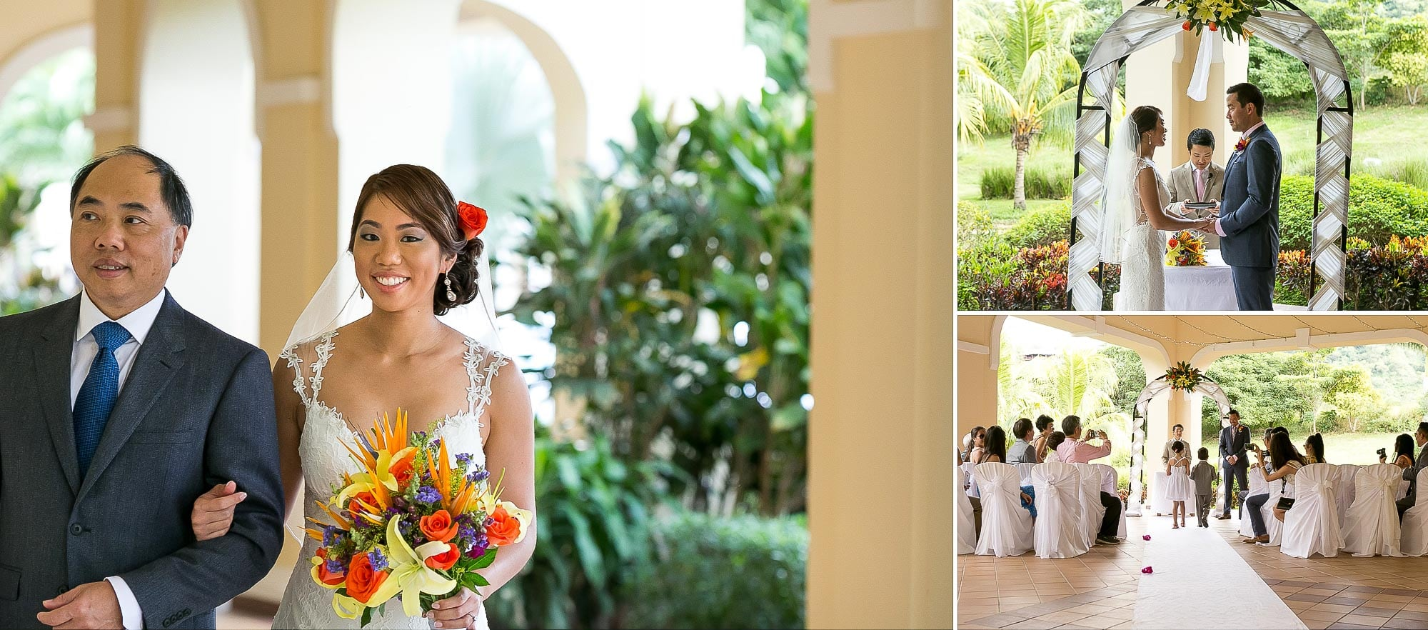 wedding ceremony in garden terrace at riu palace costa rica