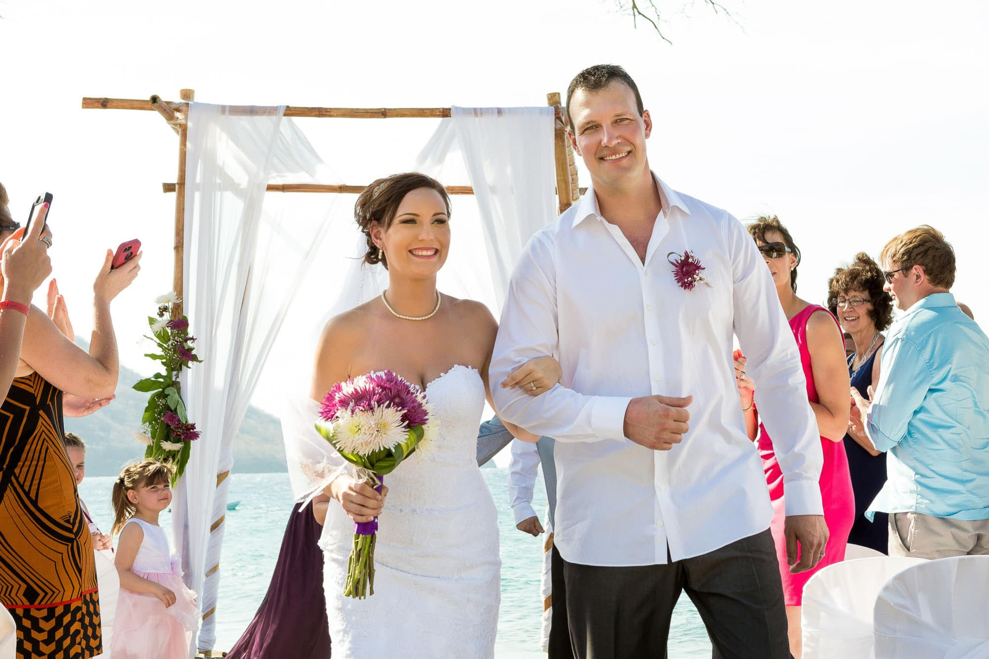 riu wedding in costa rica