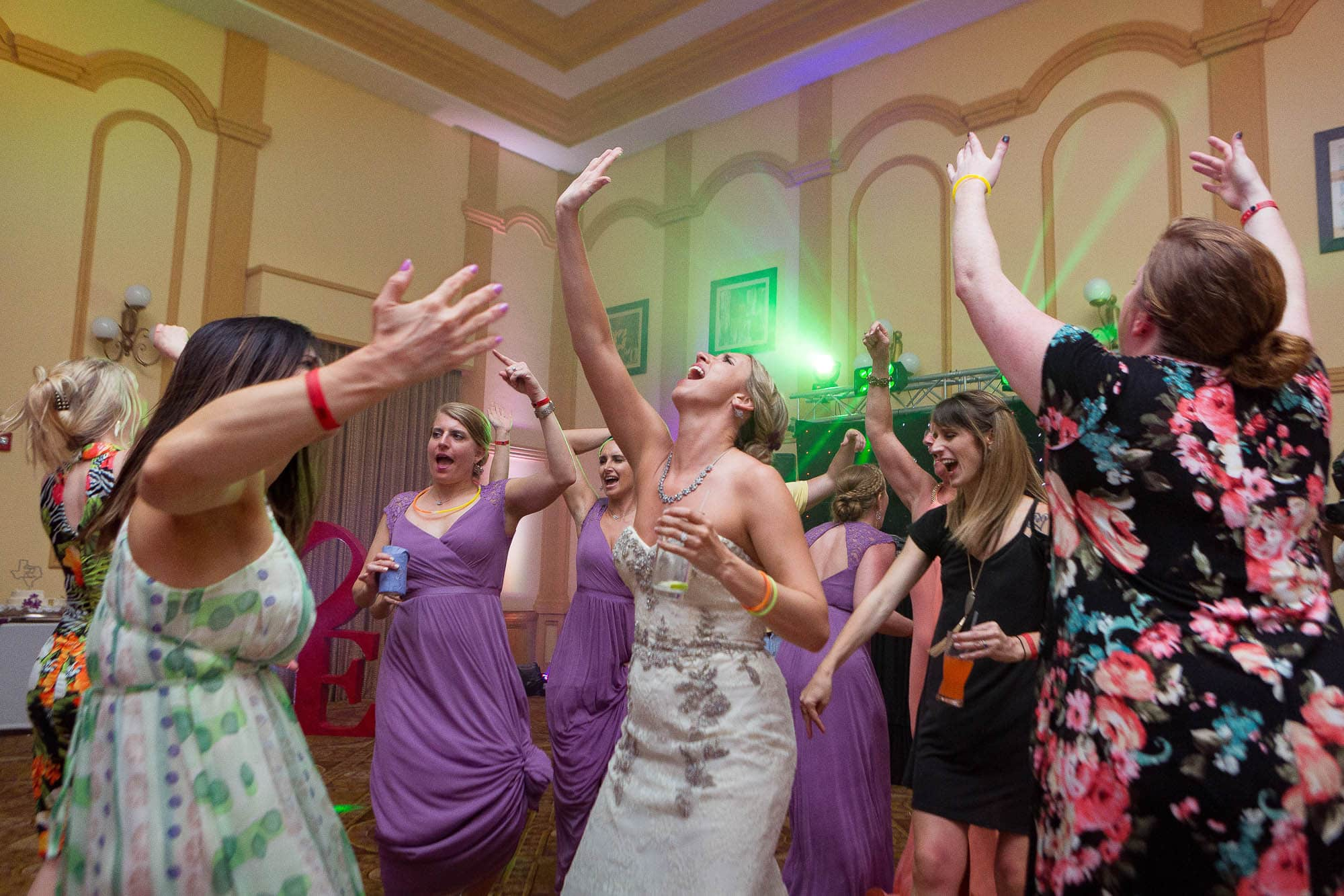 bridesmaids dancing at wedding in Costa Rica