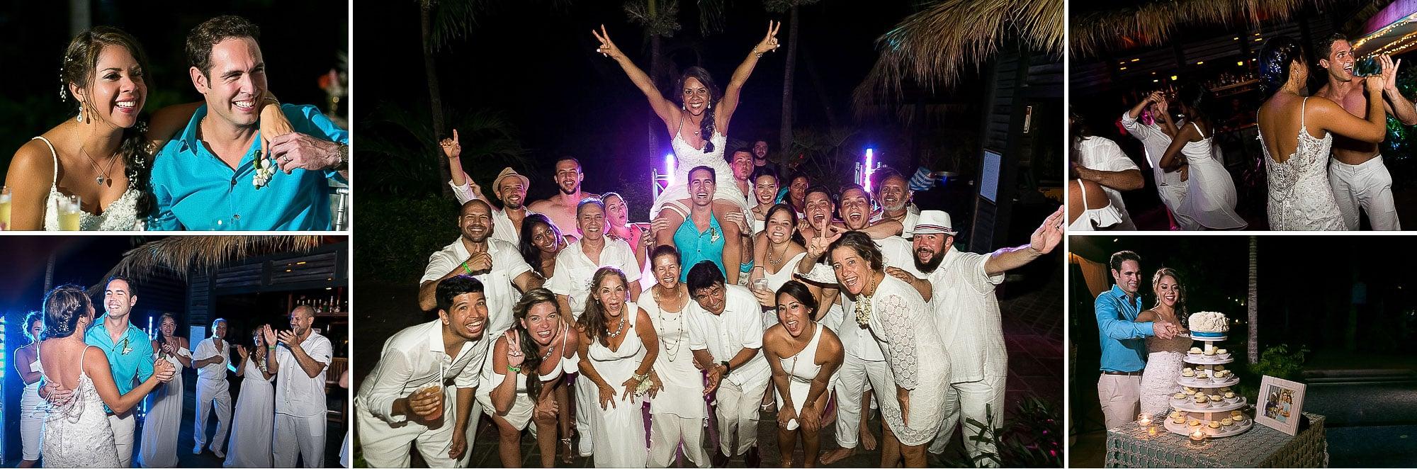 langosta beach wedding reception