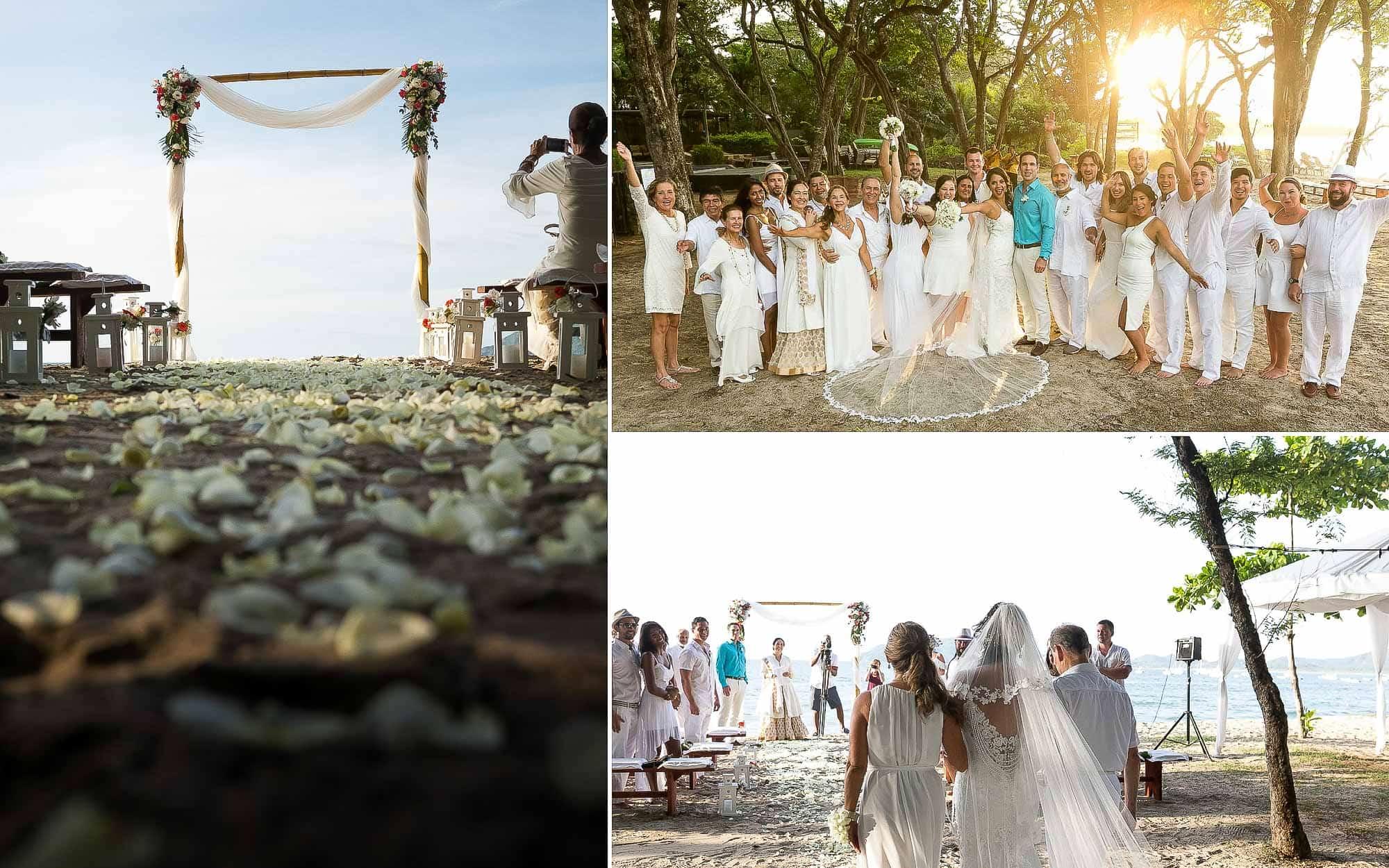 ceremony at langosta tamarindo