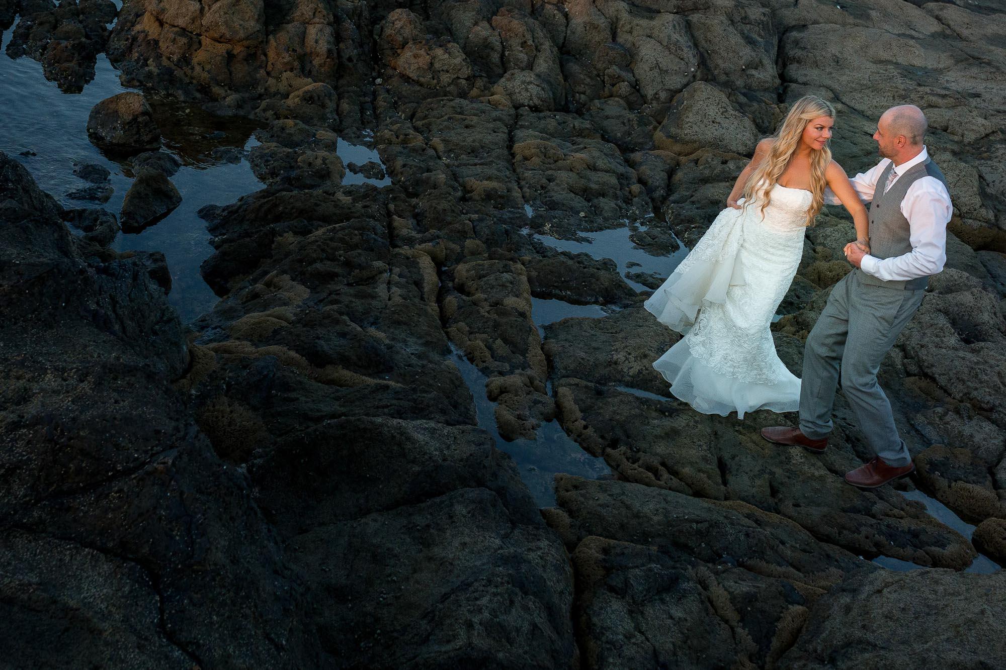 langosta beach wedding photography