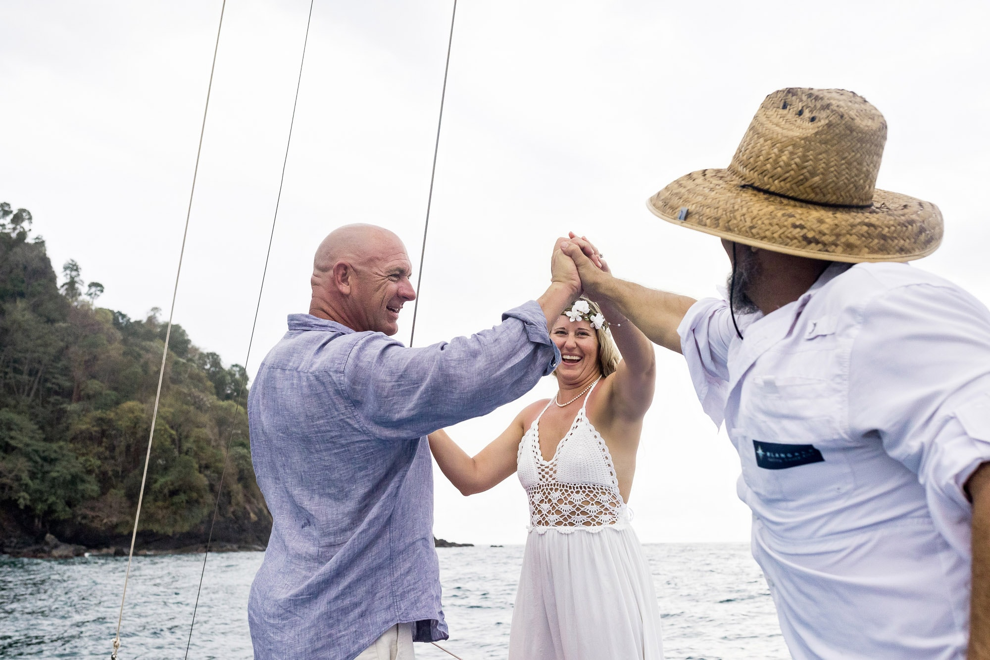 Destination wedding on the water
