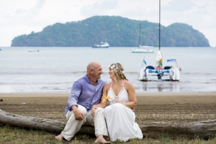 Wedding on a sailboat in Costa Rica