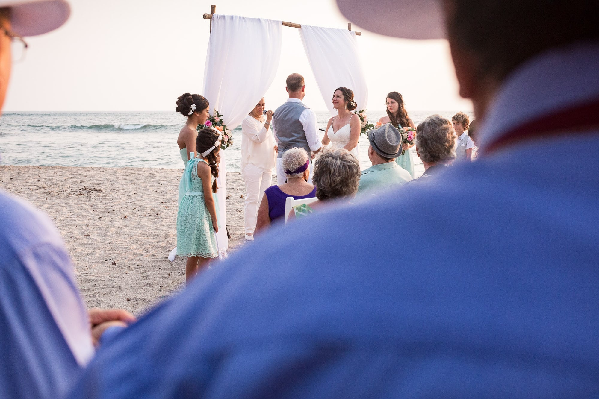 Over the shoulder peek at the ceremony