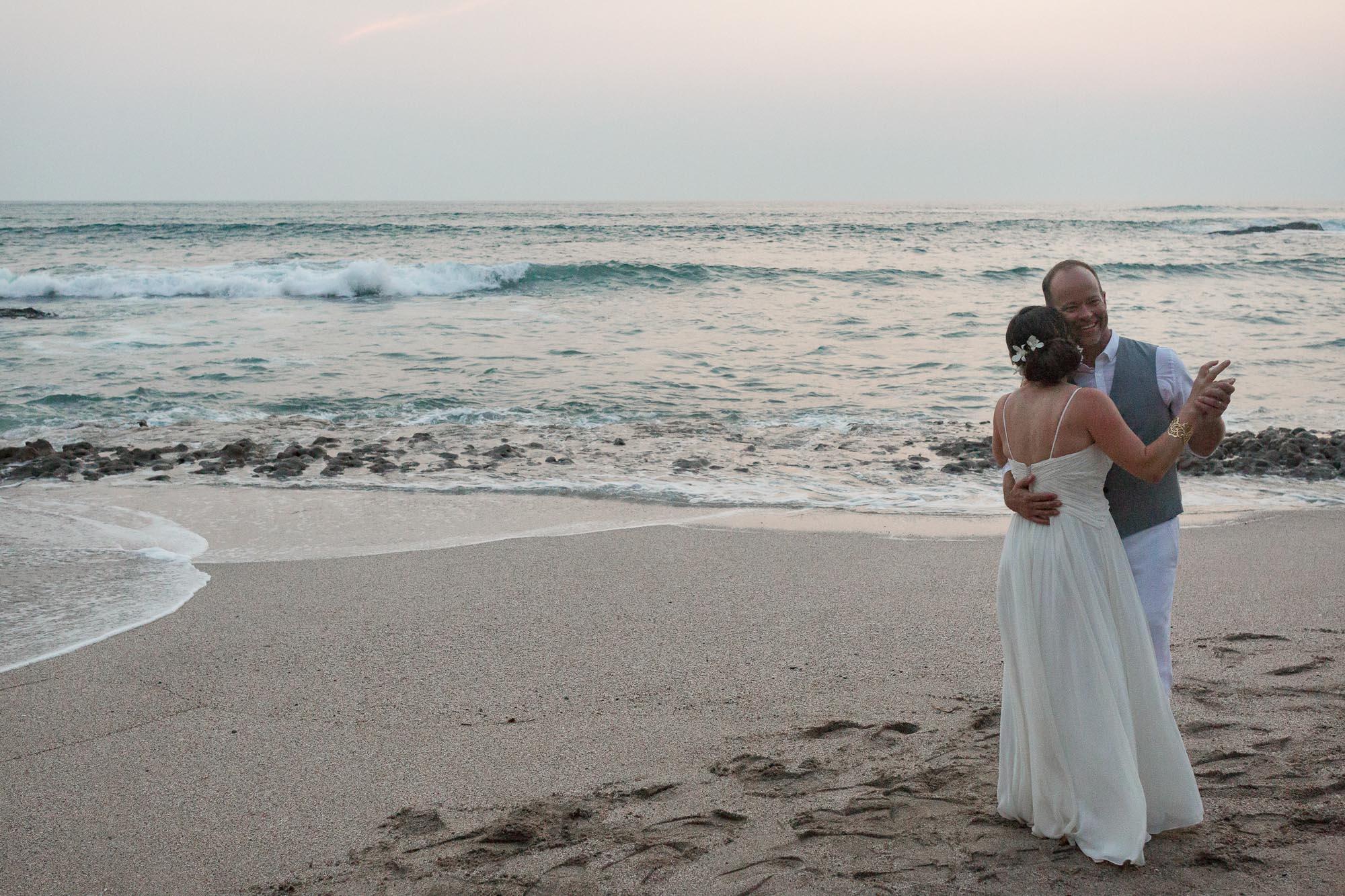 Slow dancing on the beach wedding-on-the-beach-Costa-Rica