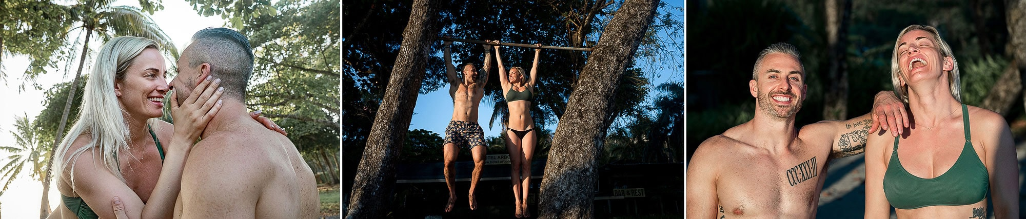 Hanging out on the pull-up bar! Getting engaged.