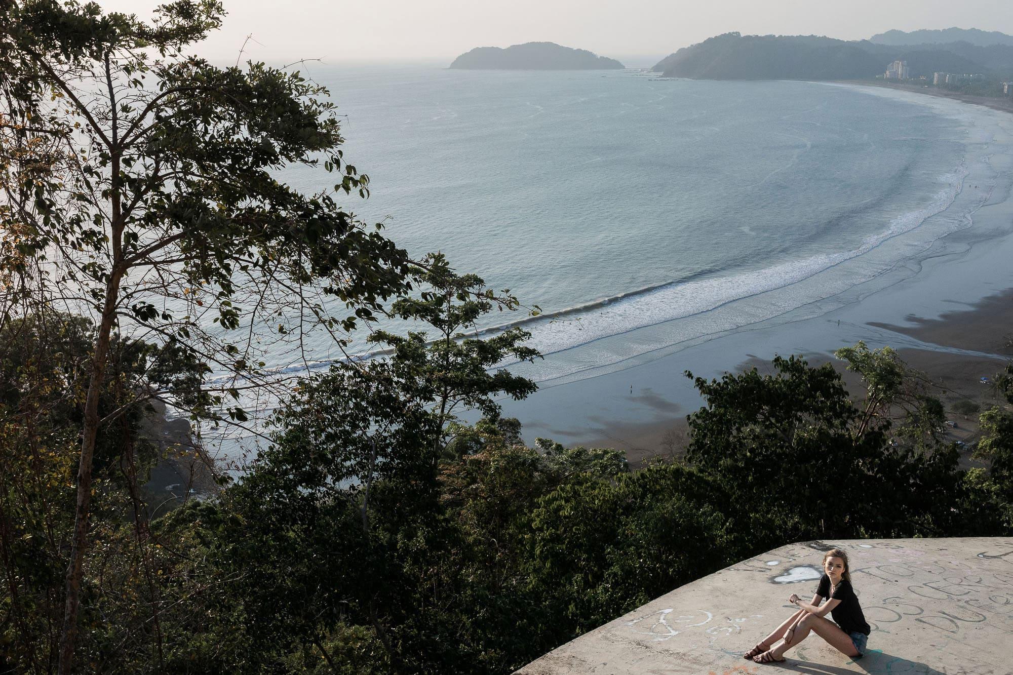 Epic shot overlooking the Pacific Ocean