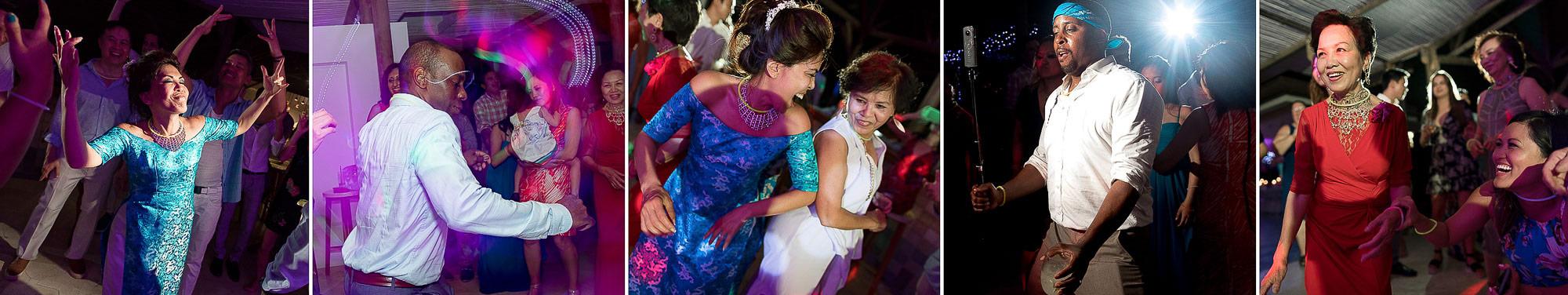 Great fun at the reception at Arenas del Mar