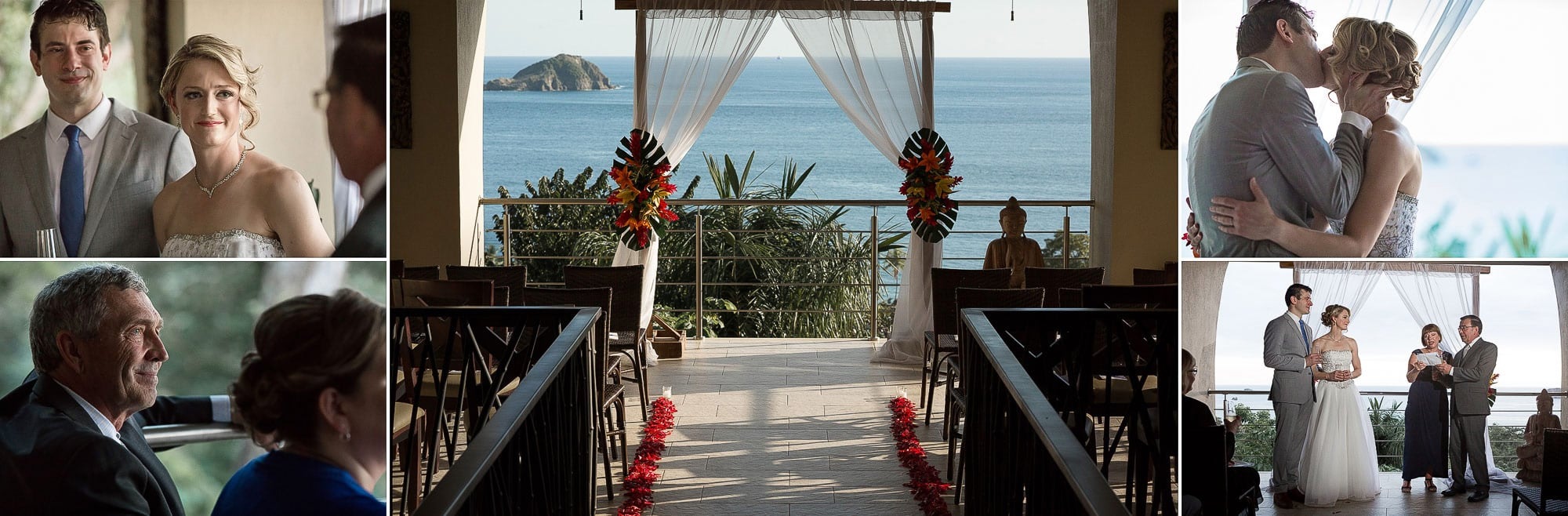 The epic view from the ceremony spot, perfect for an intimate wedding.