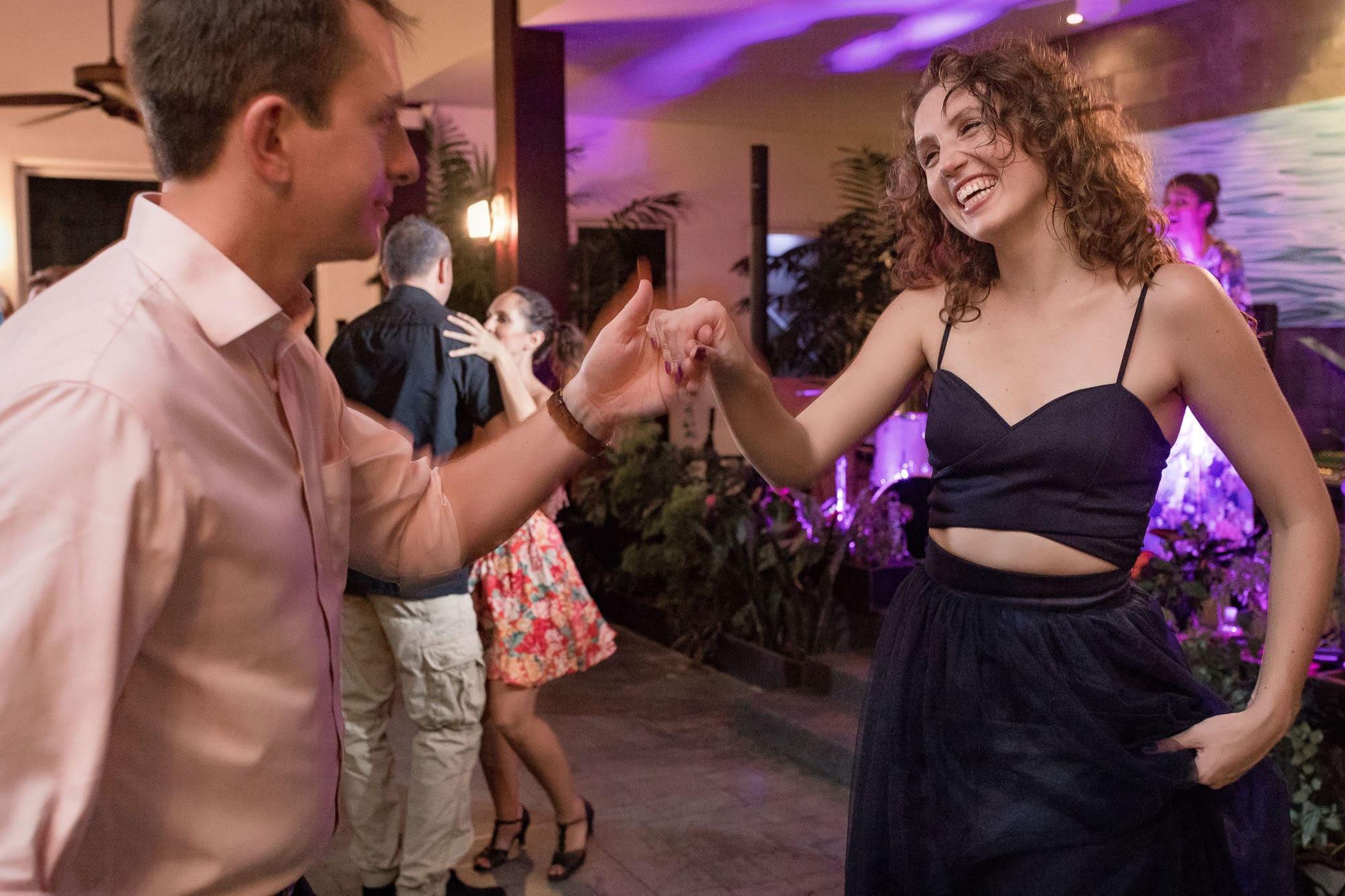 Having fun at the reception–Ukrainian style!