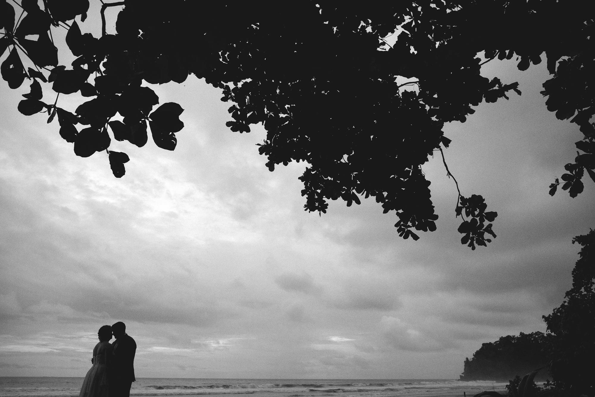 bridal portraits on the beach in dominical, costa rica