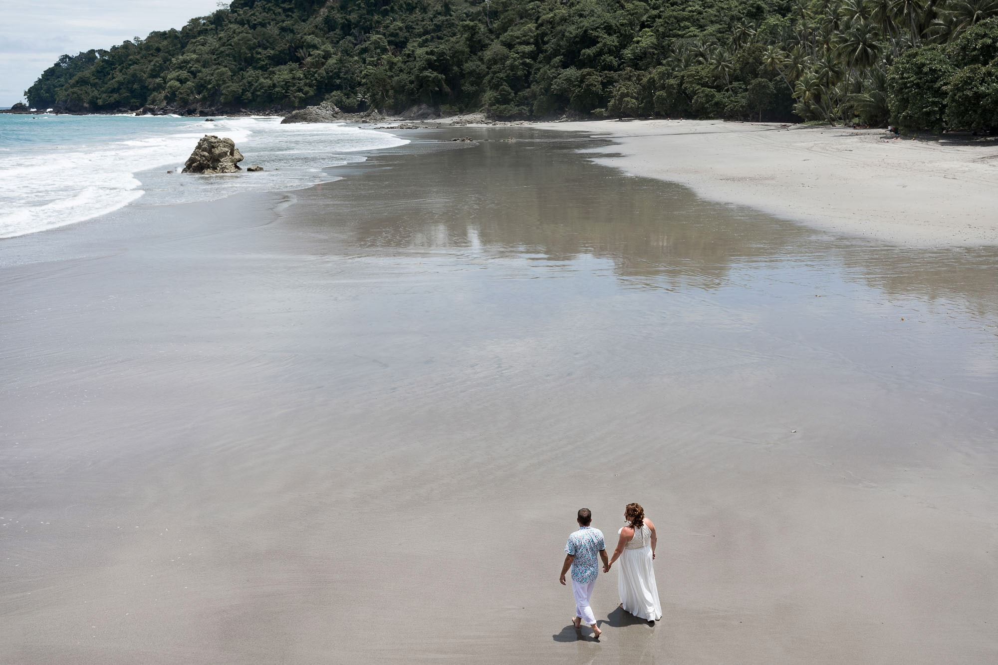 Morning after the elopement bridal portraits on the beach