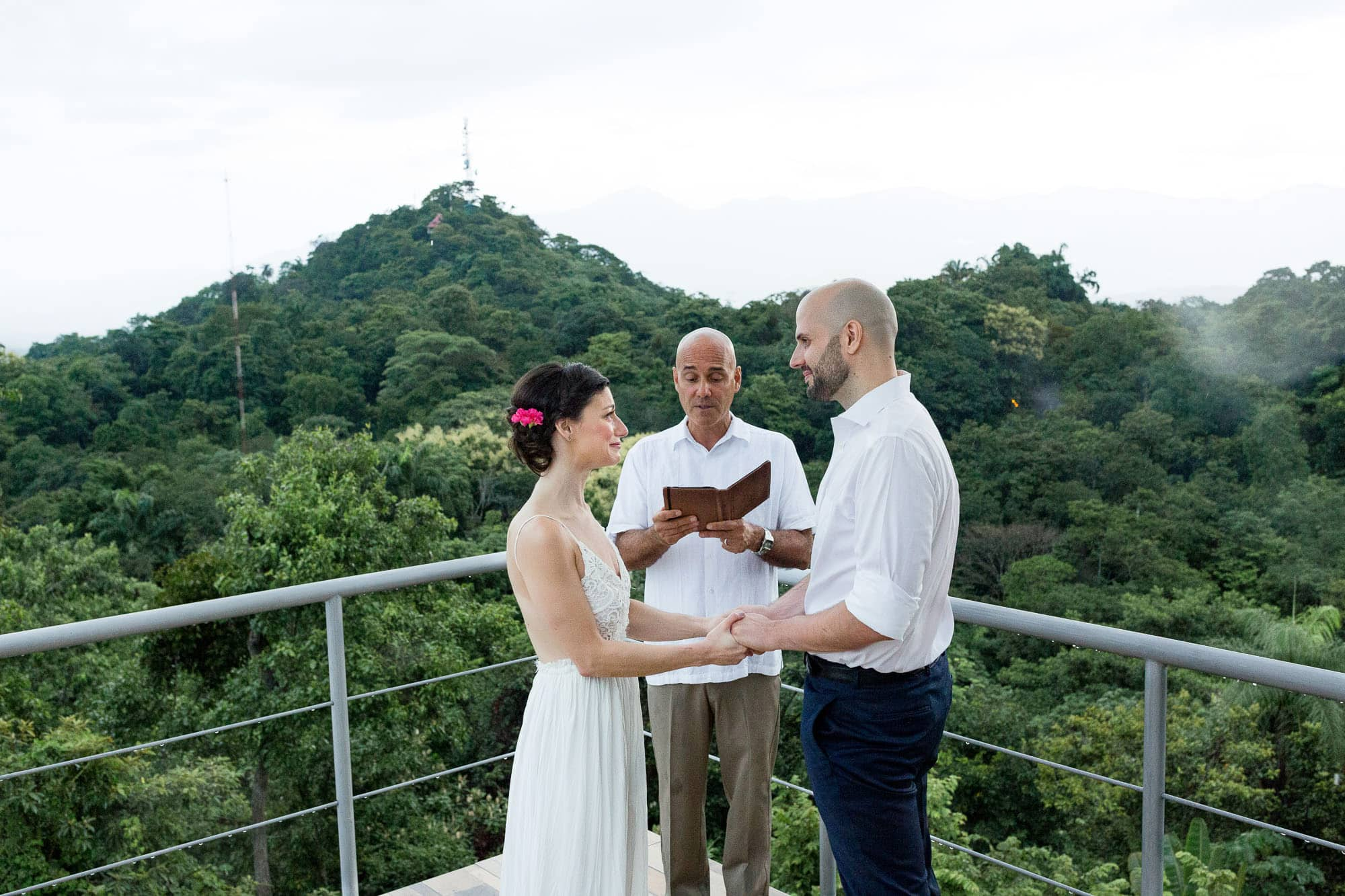 Rooftop Costa Rica elopement ceremony at Gaia Hotel