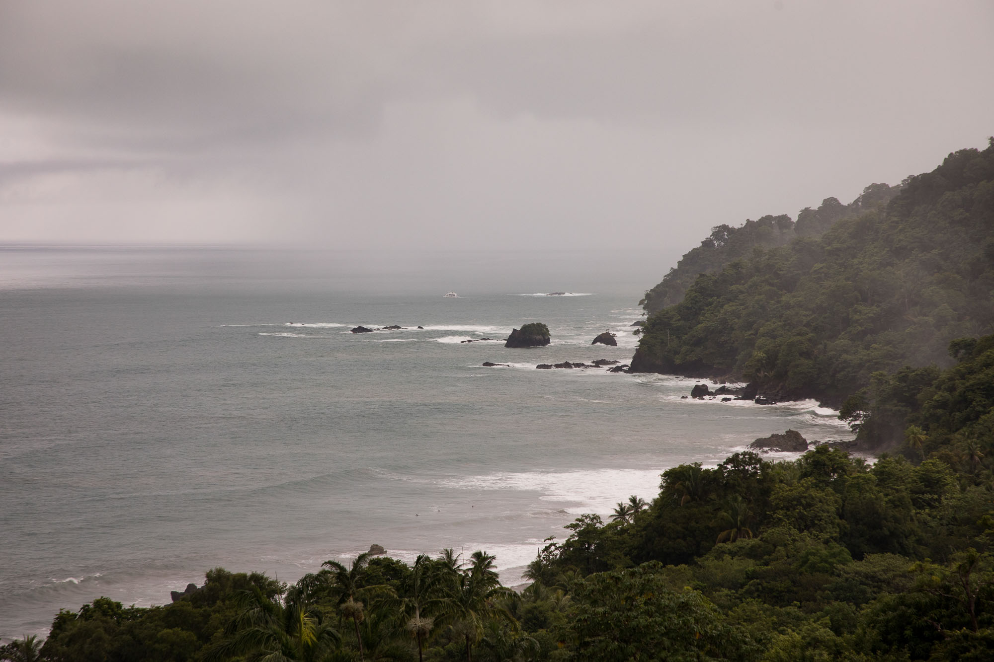 The stormy coast of Costa Rica is still lovely