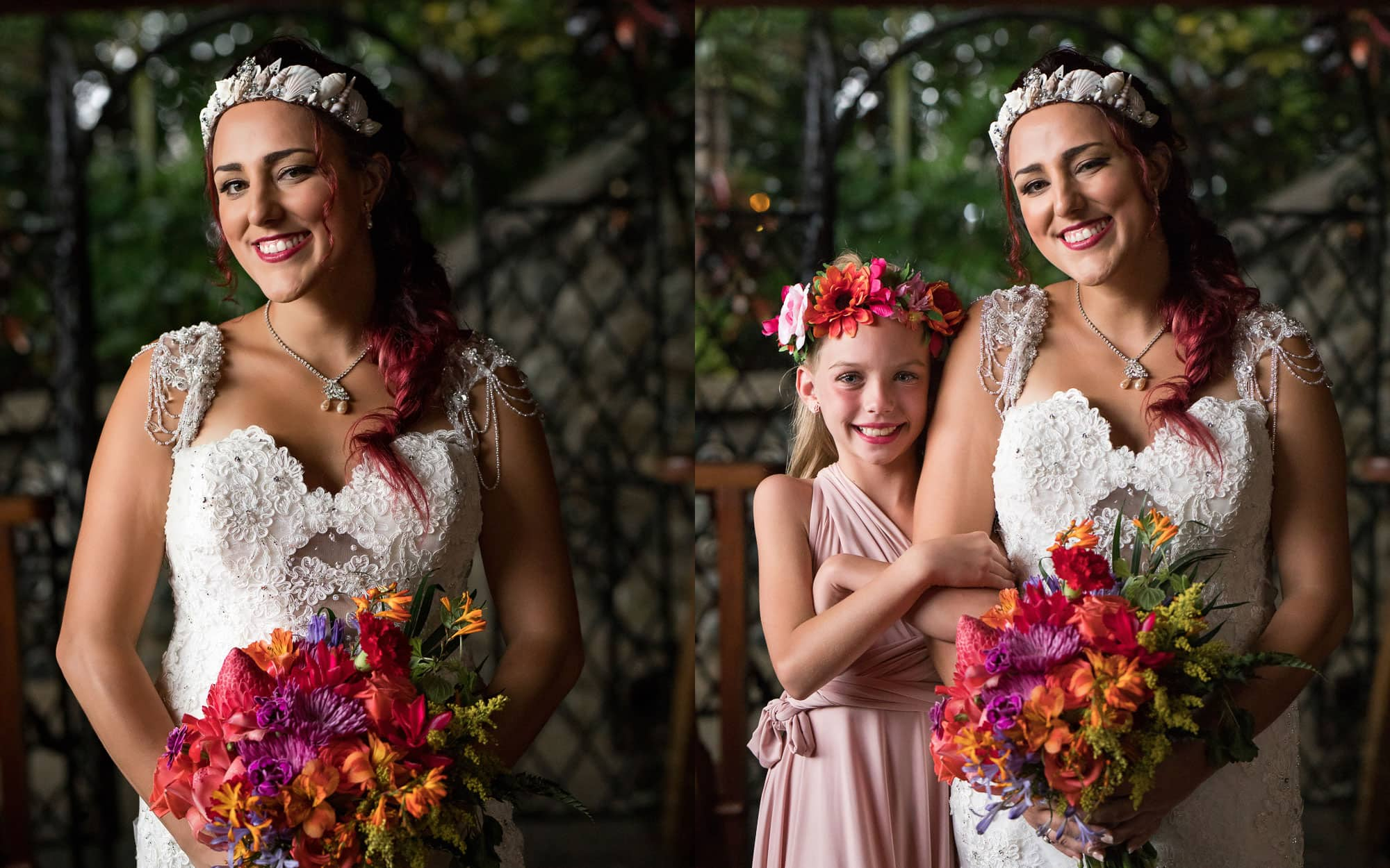 Loves blooms like the lovely flowers in the bride's hands