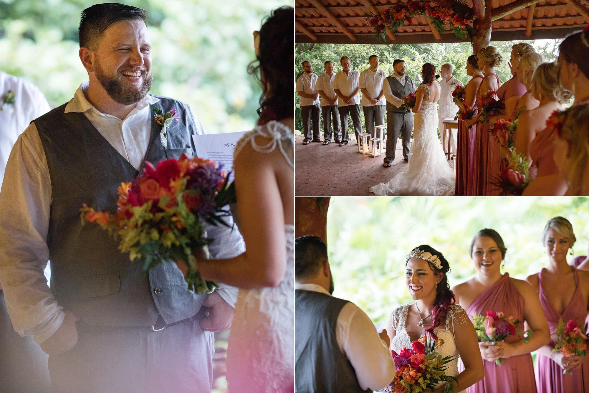 Shots from the ceremony