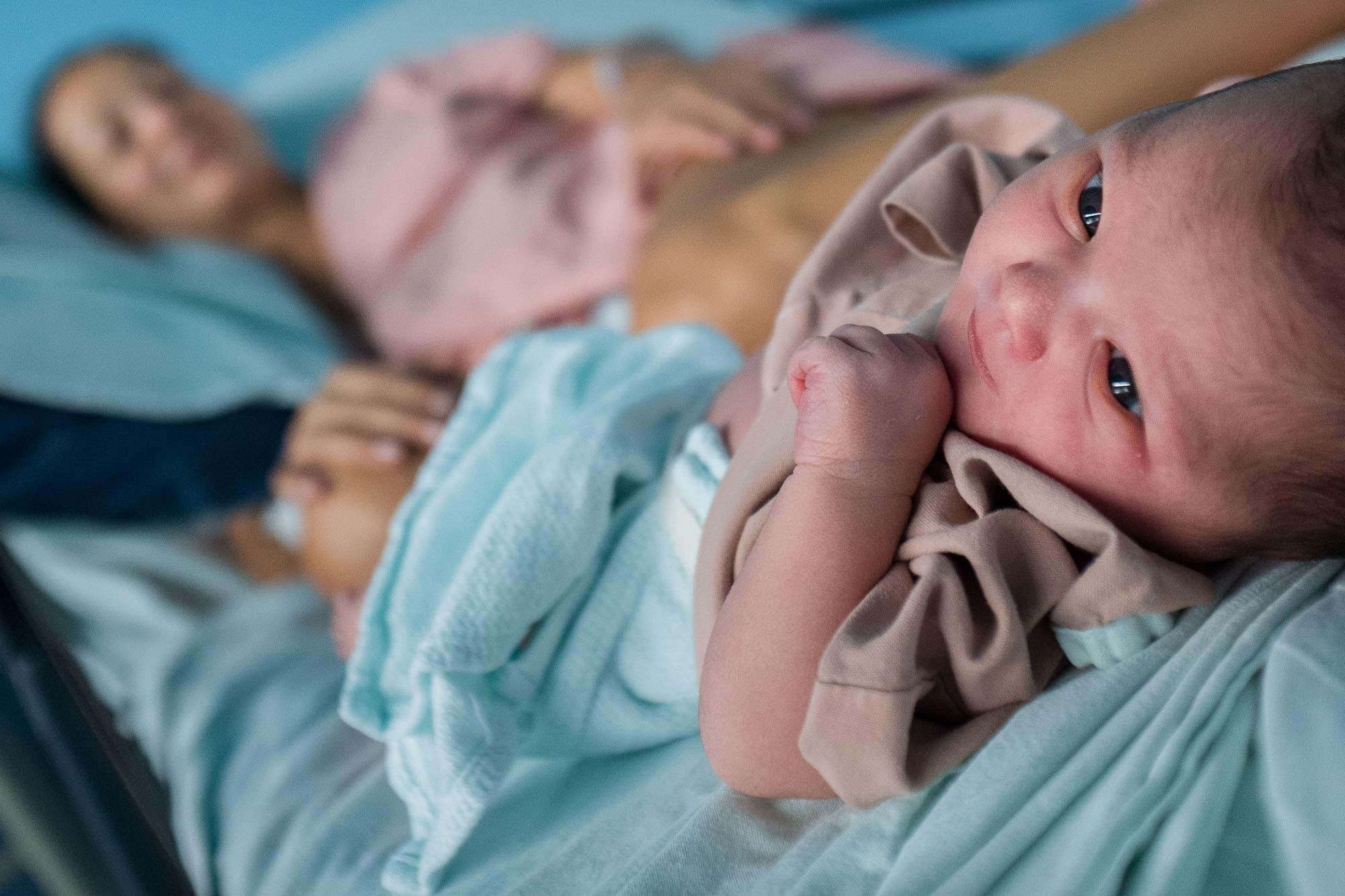 Baby born at hospital