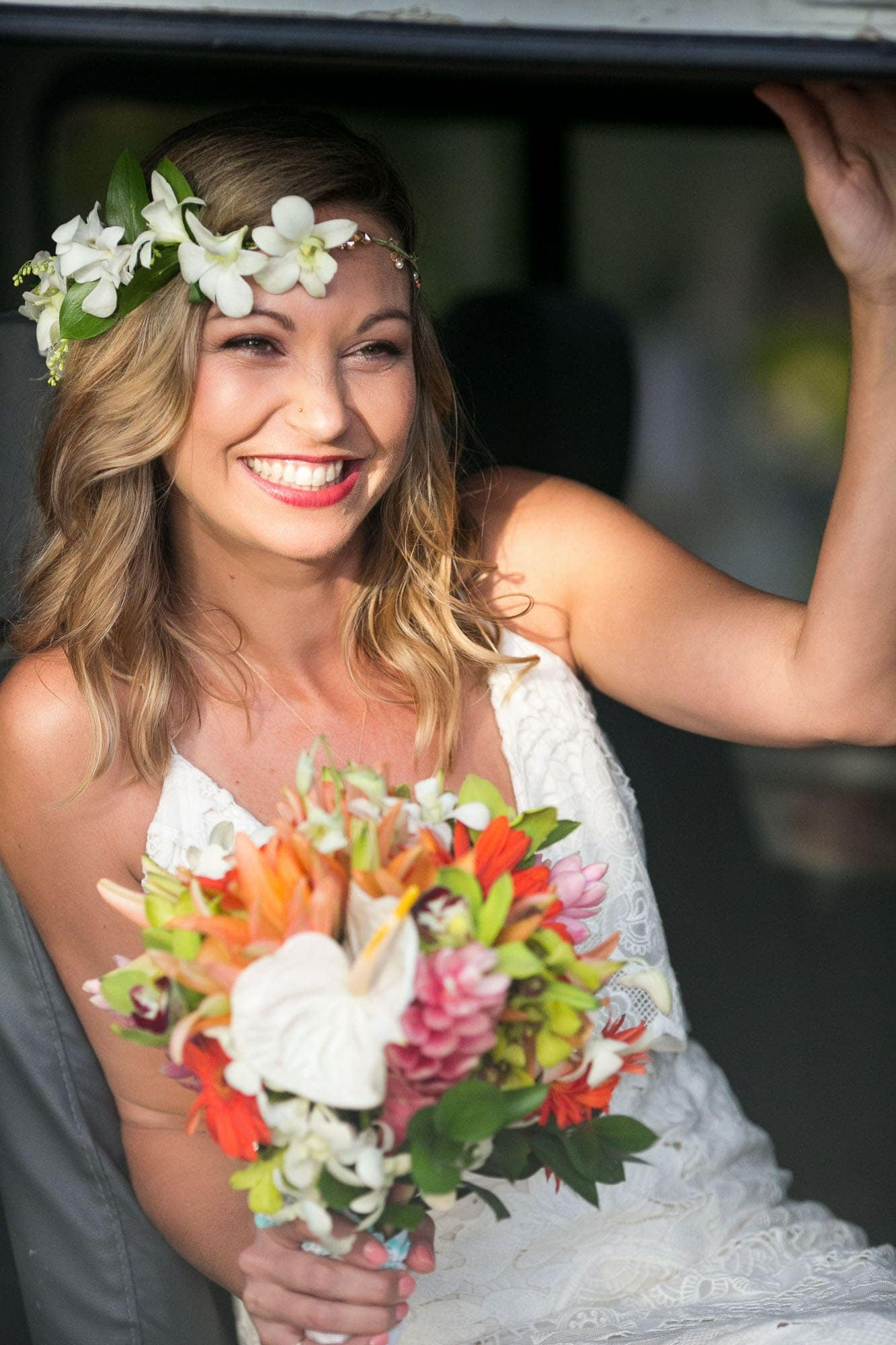 No smile outshines this lovely bride