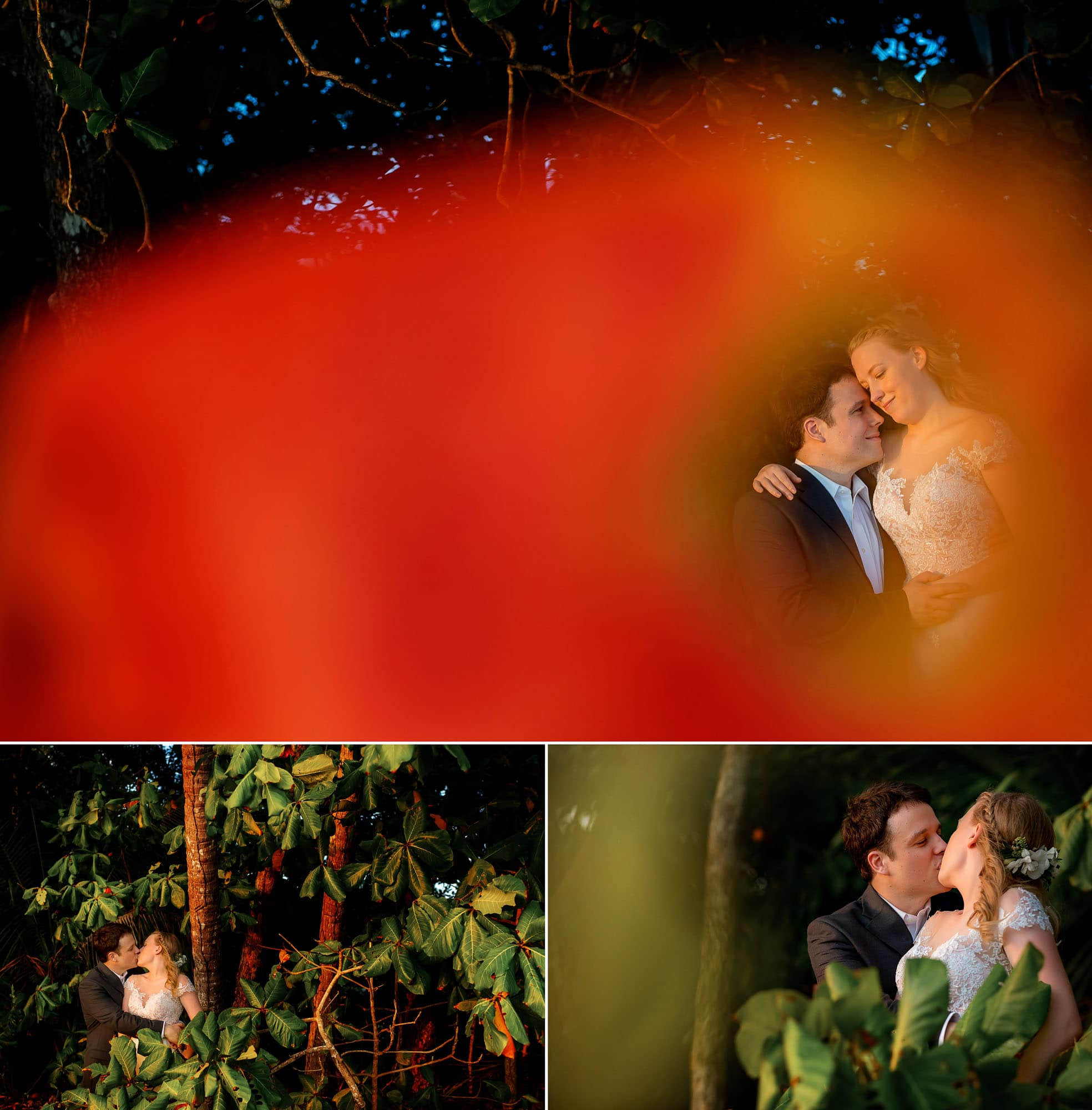 Creative Wedding Photography: Shooting through things to spotlight on the couple