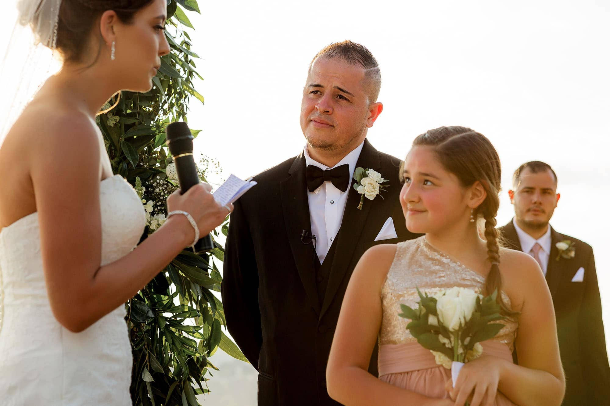 The bride speaks to her new daughter