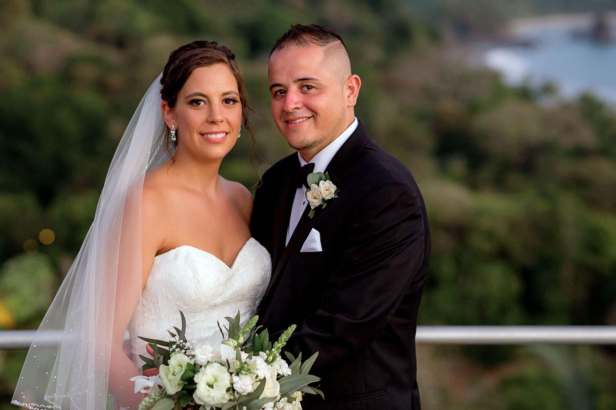 Bride and groom formal portrait