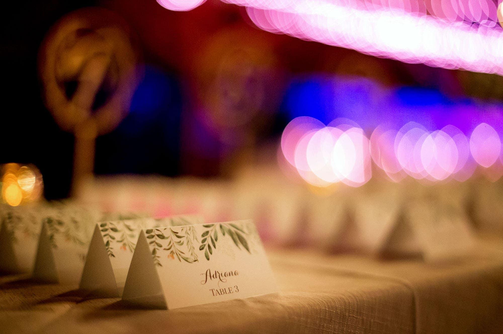 A formal wedding reception in paradise