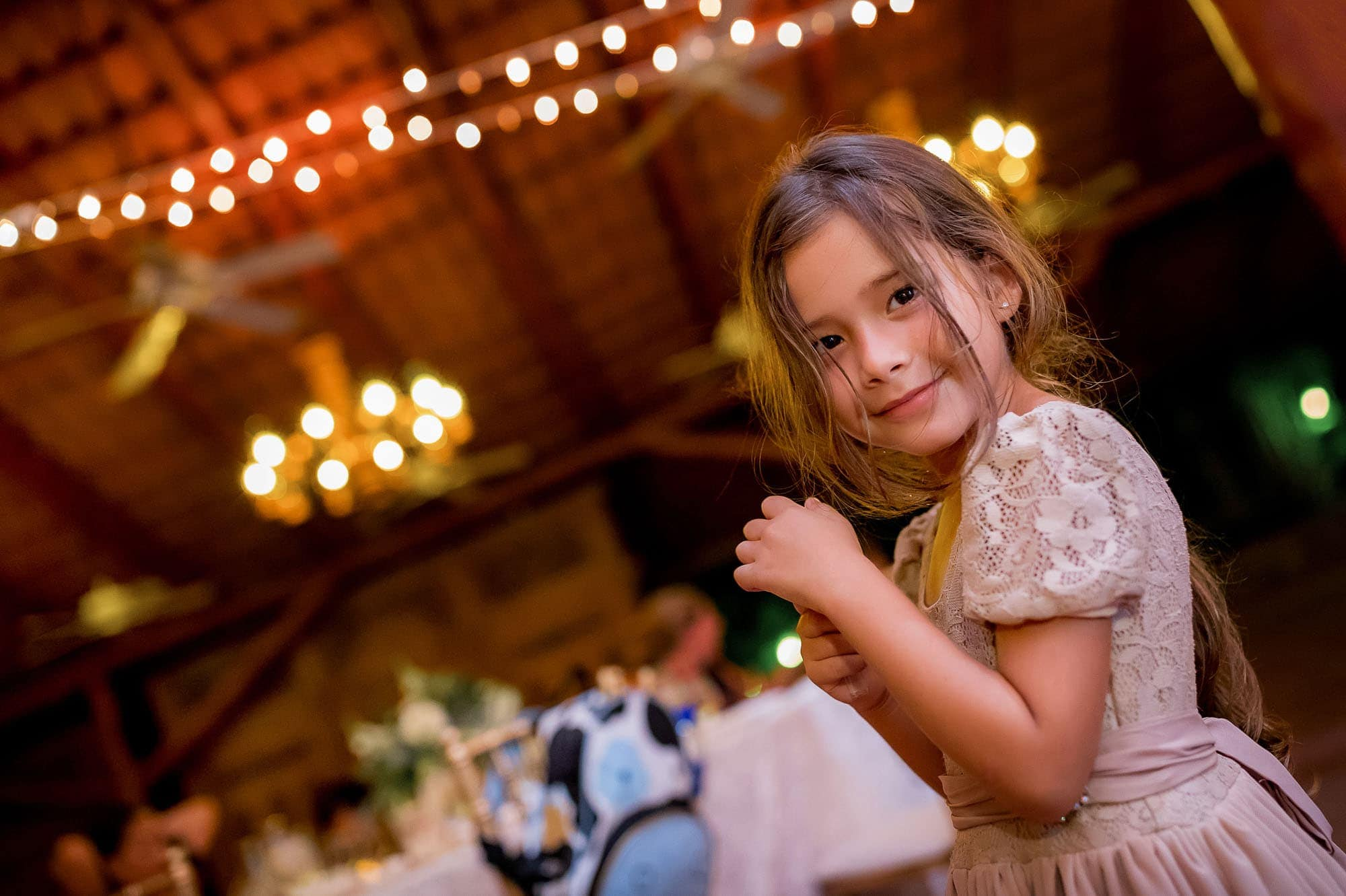 Cute kid at a formal wedding