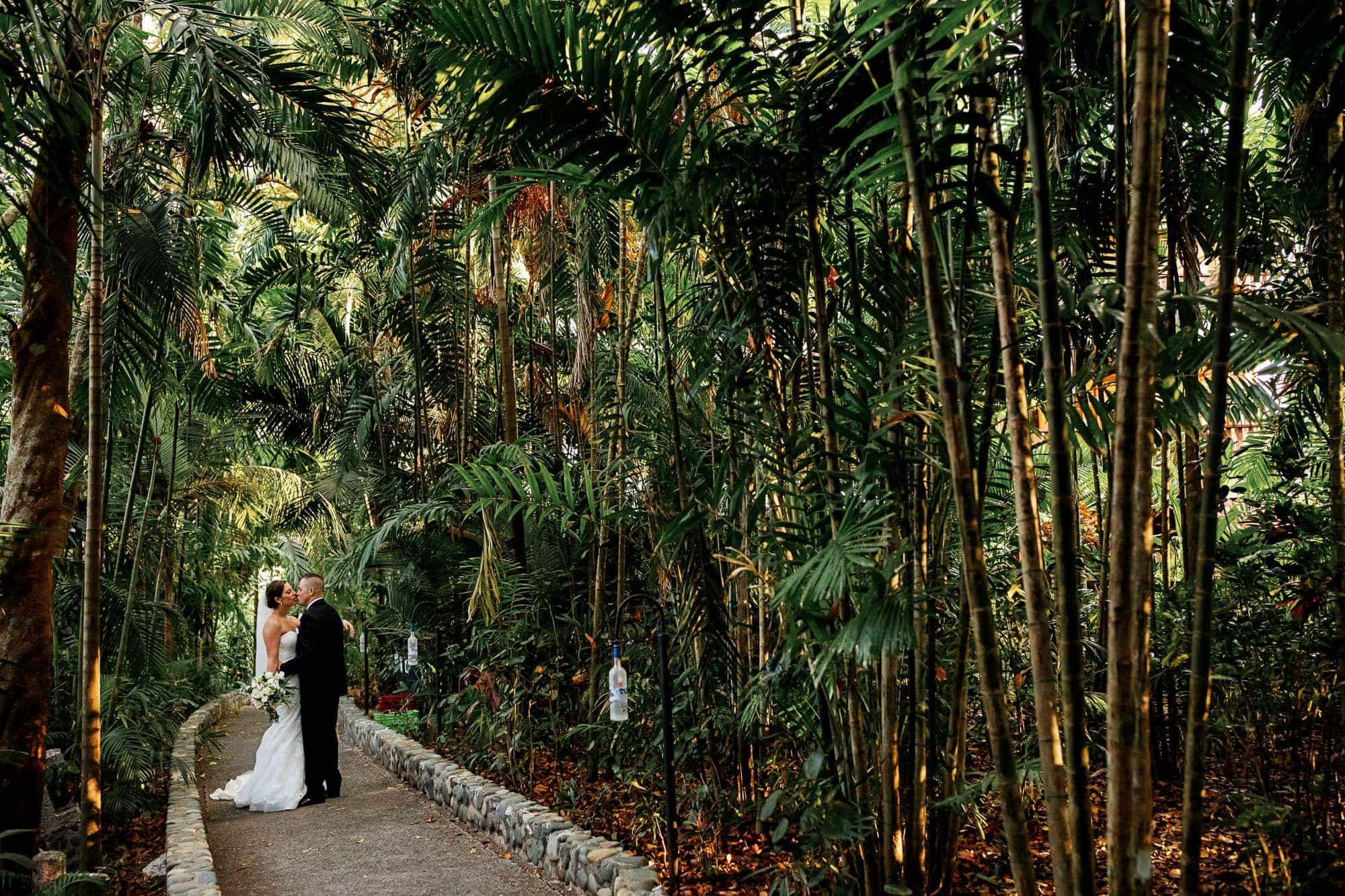 A formal wedding photo in Costa Verde. Costa Rica
