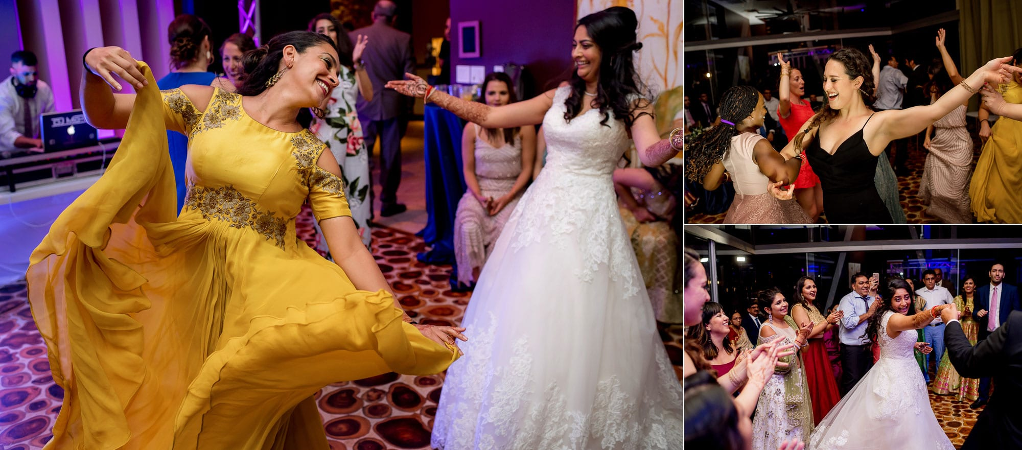 Dancing at the Hindu Muslim wedding reception