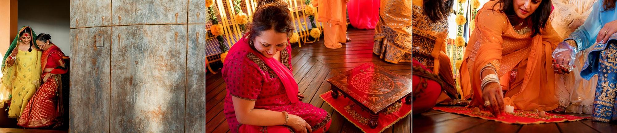Pithi ceremony preparations