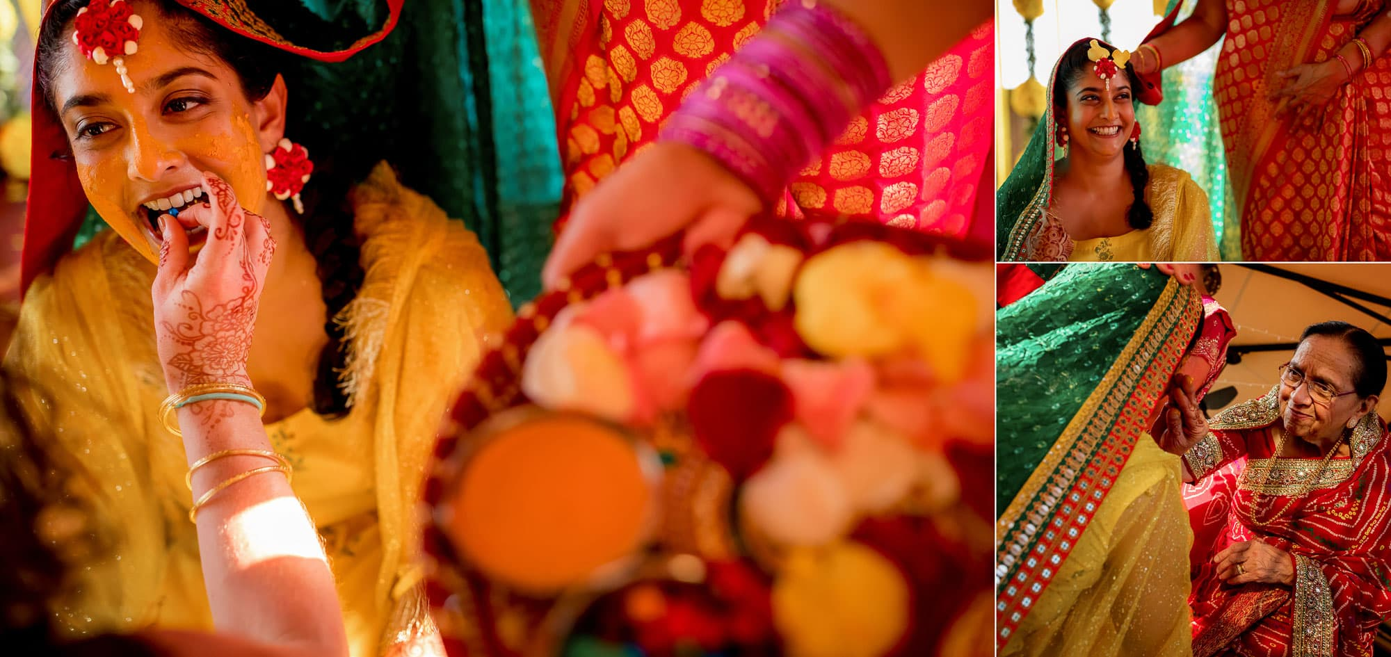 Pithi ceremony for the bride