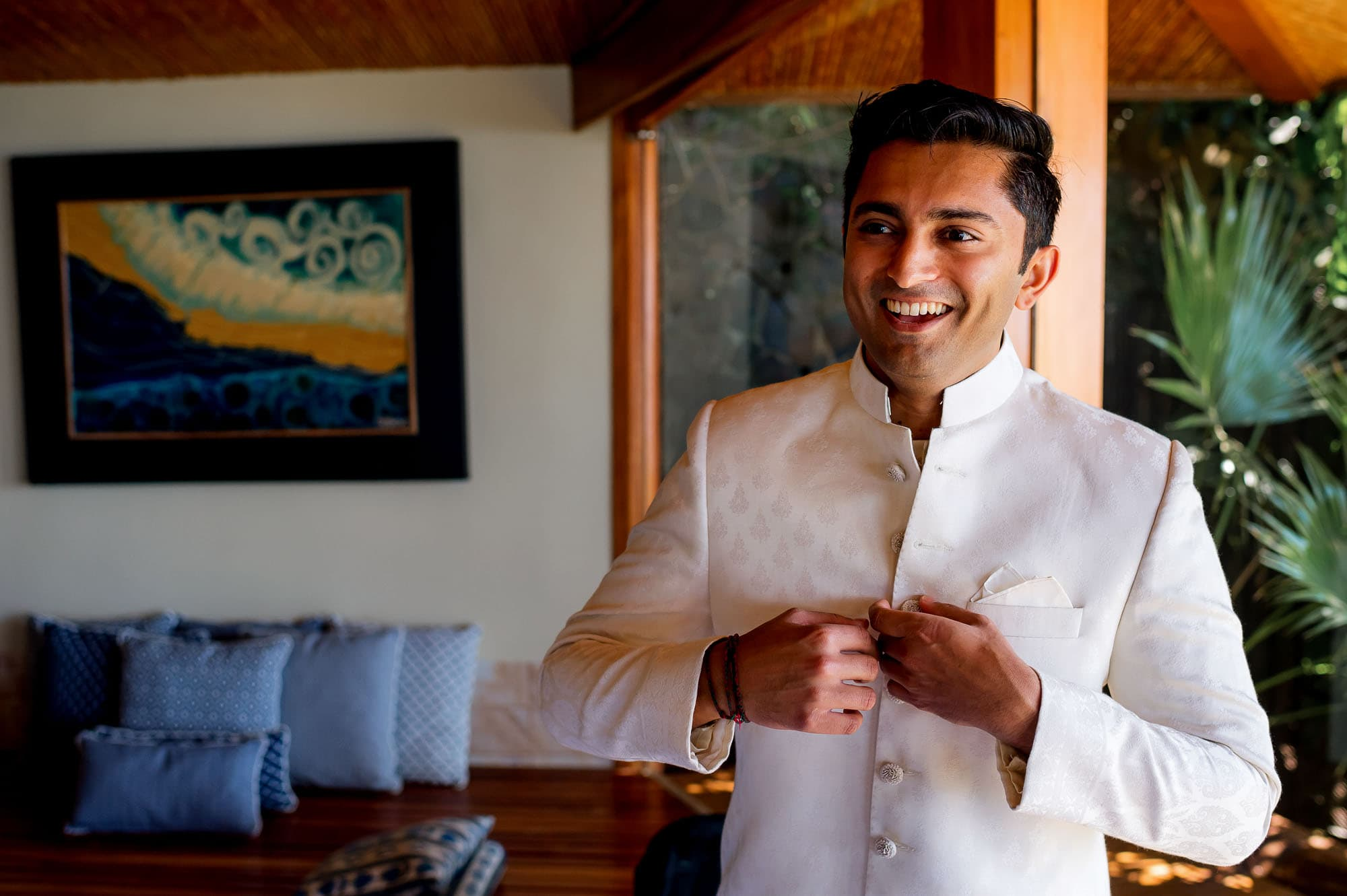 The groom ready for his traditional Hindu Muslim wedding ceremony.