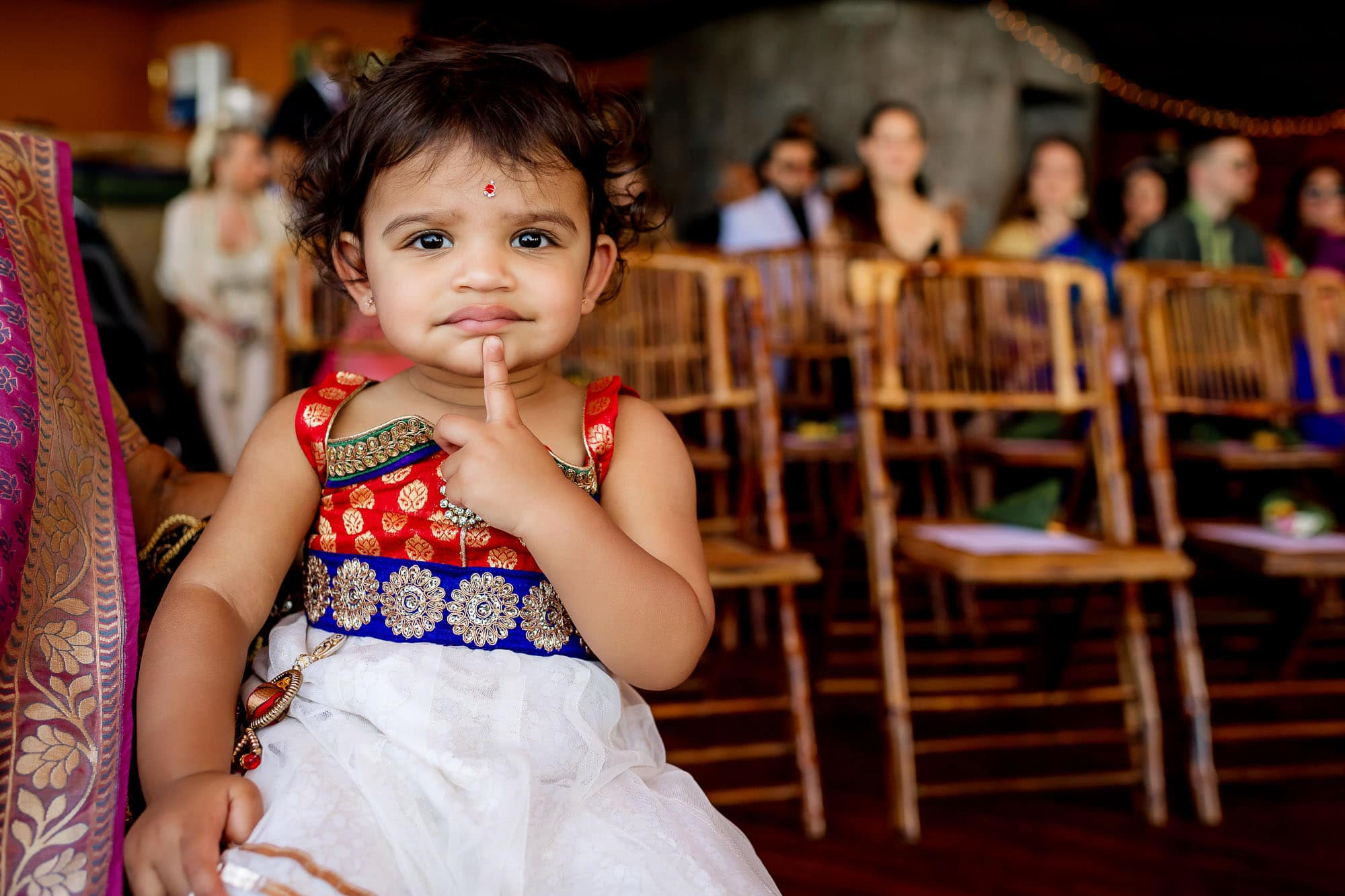 Cute kid among the guests.