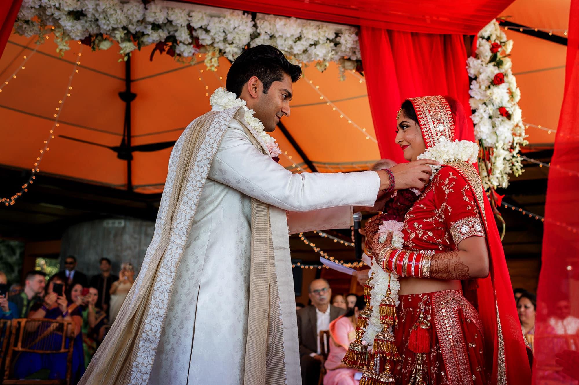 The traditional Hindu Muslim wedding ceremony begins!