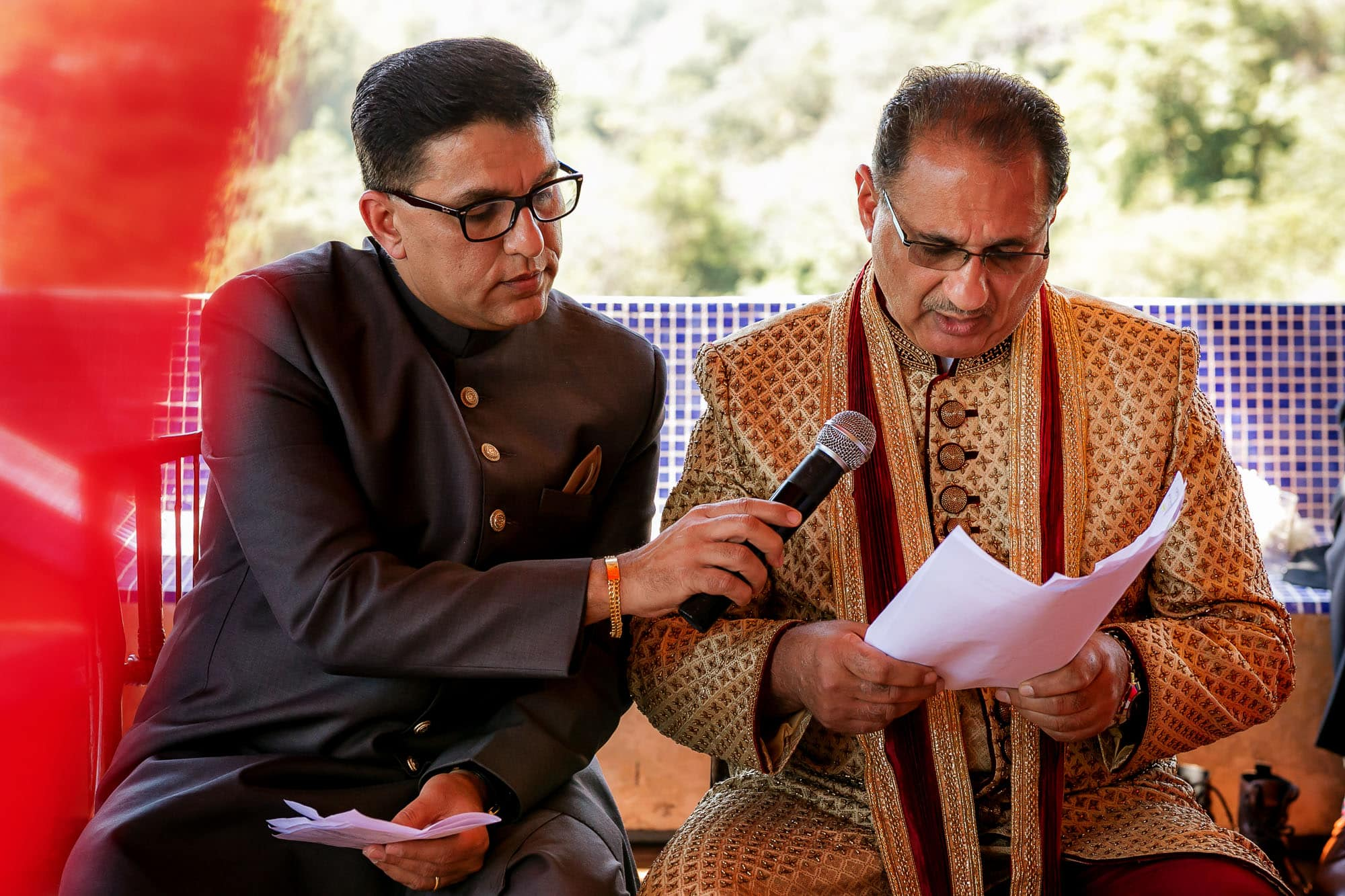 Reading as part of the groom's Muslim tradition