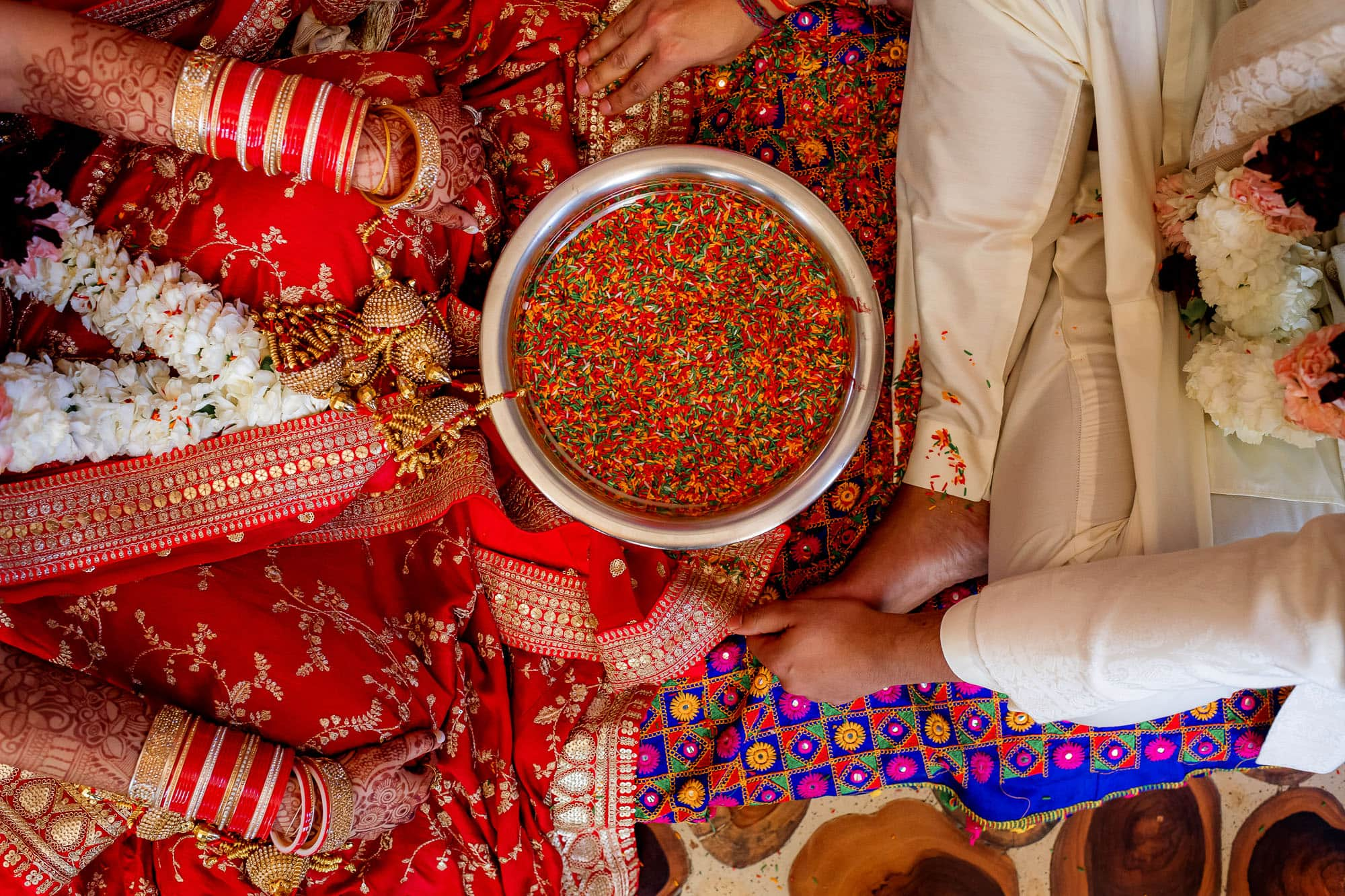 Finding the coin in the bowl of rice, Hindu tradition
